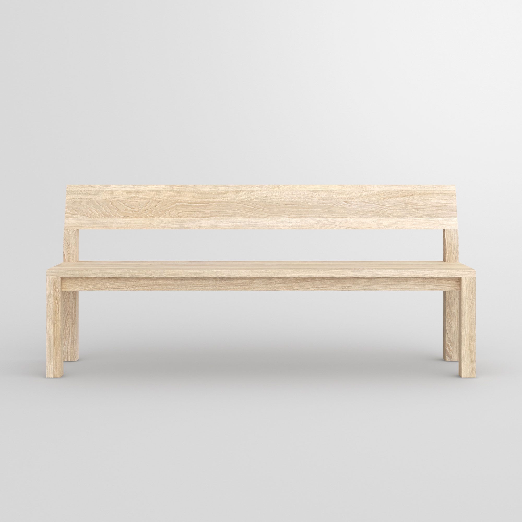 Bench with Backrest CUBUS RL cam3 custom made in solid wood by vitamin design