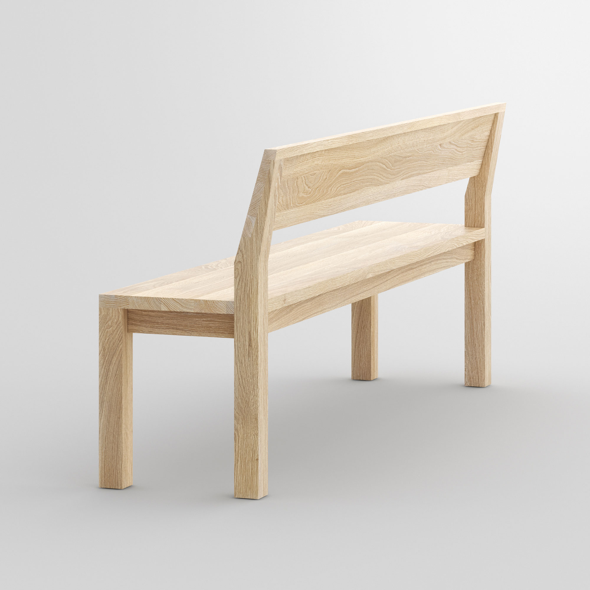 Bench with Backrest CUBUS RL cam1 custom made in solid wood by vitamin design