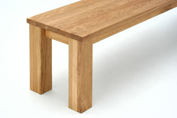 Oak Bench in Solid Wood FORTE 3 0219 custom made in solid wood by vitamin design