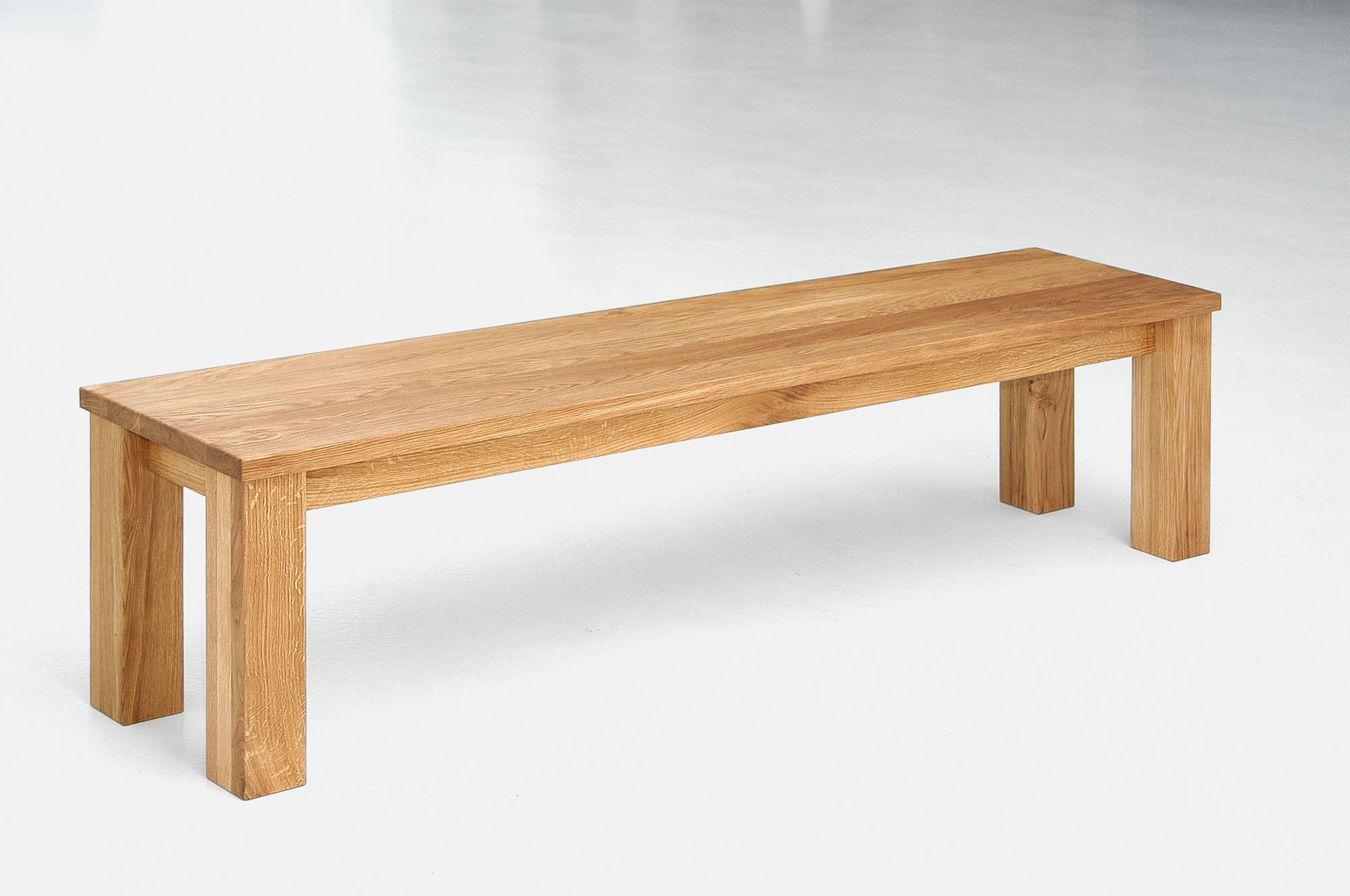 Oak Bench in Solid Wood FORTE 3 0212 custom made in solid wood by vitamin design