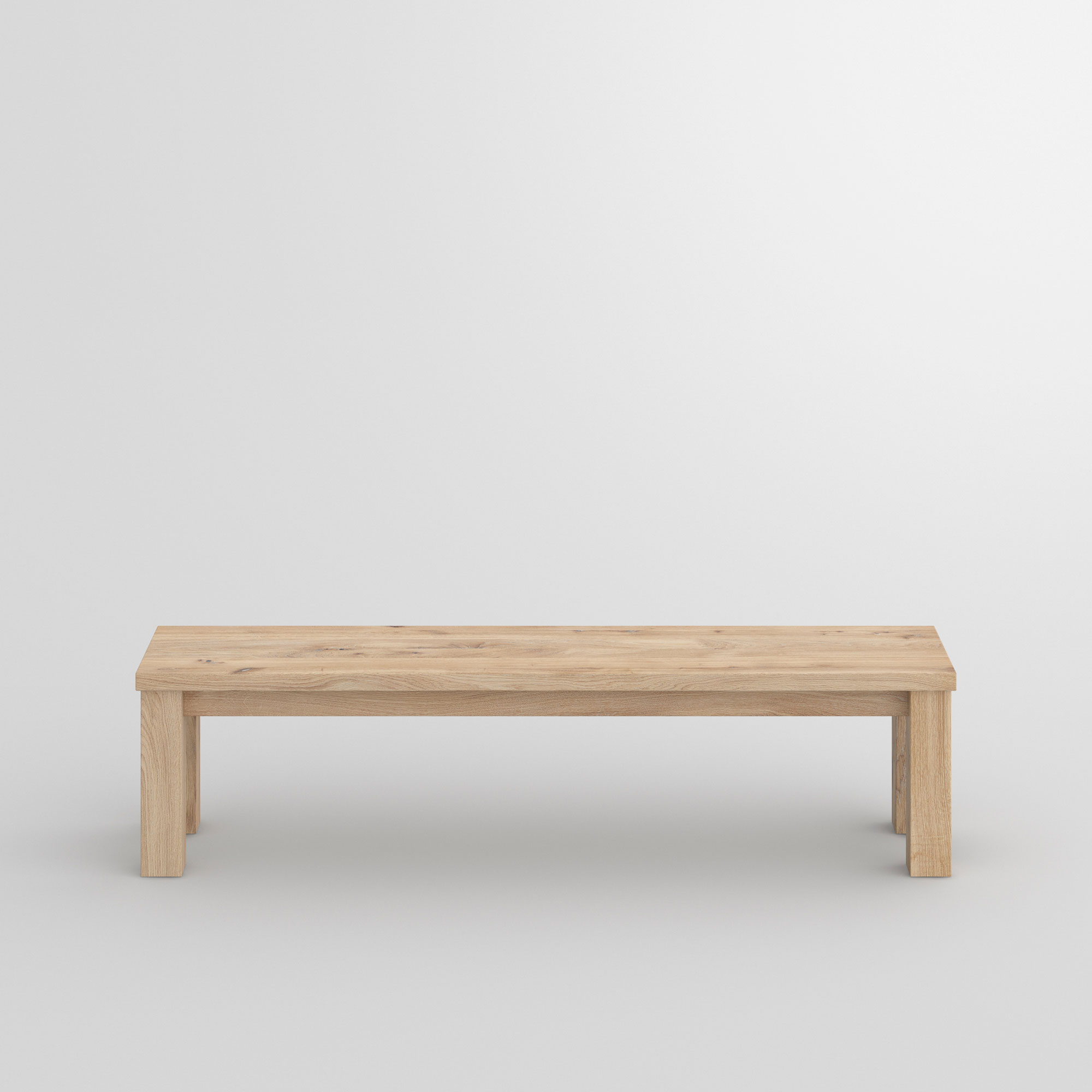 Tailor-Made Wood Bench FORTE 4 cam2 custom made in solid wood by vitamin design