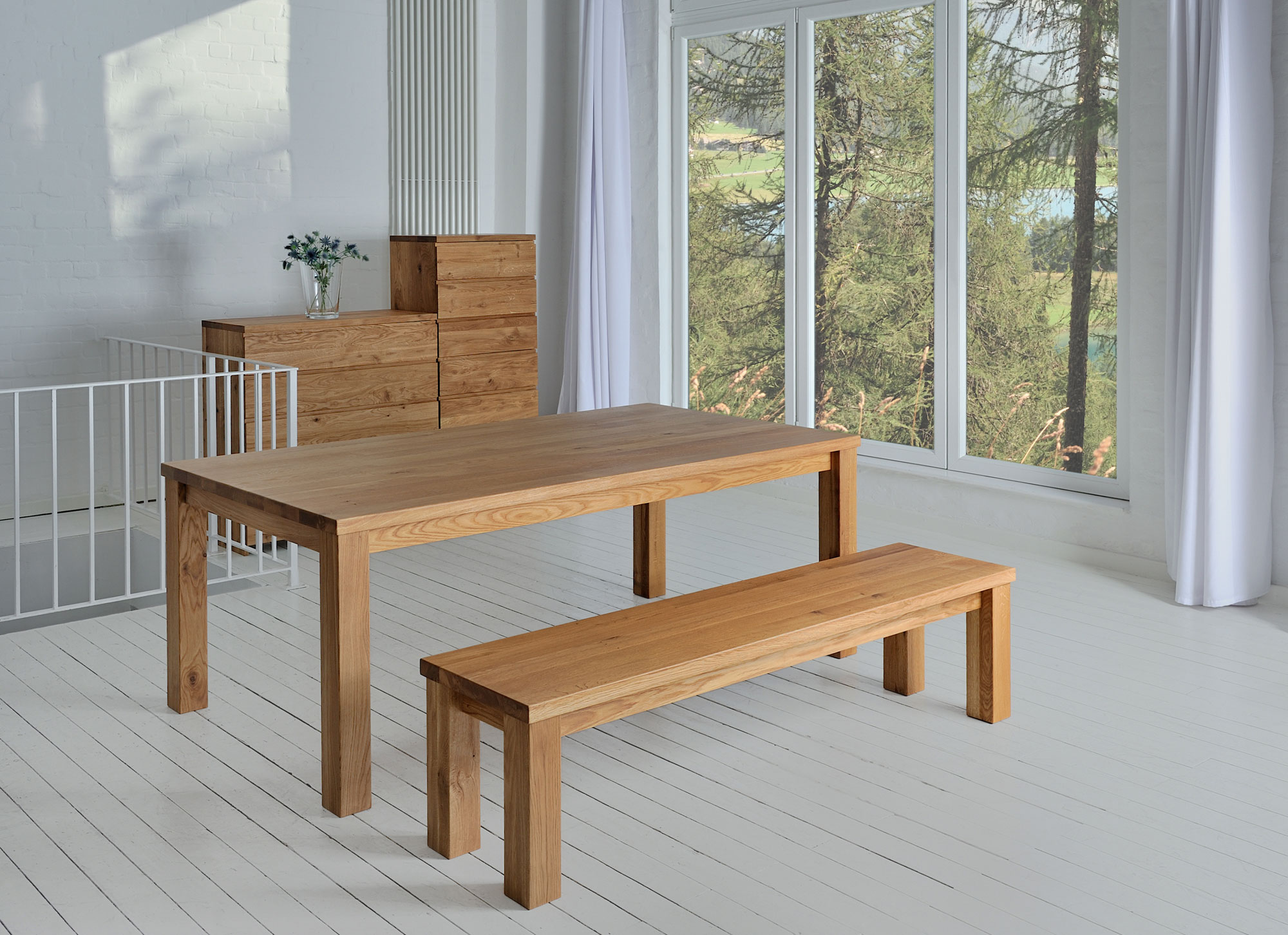 Tailor-Made Wood Bench FORTE 4 4286 custom made in solid wood by vitamin design