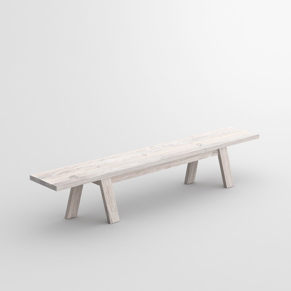 Unique Designer Bench GO cam1 custom made in solid wood by vitamin design