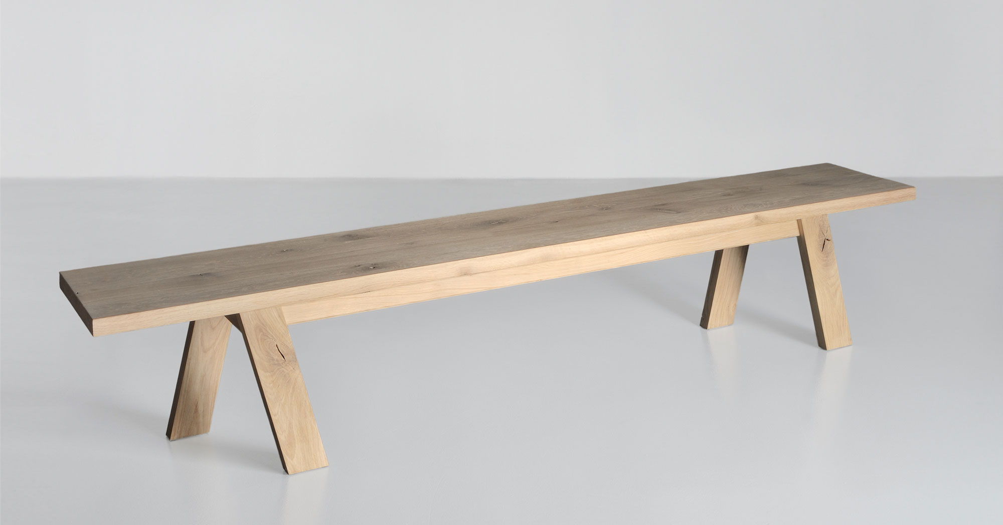 Unique Designer Bench GO 4213 custom made in solid wood by vitamin design