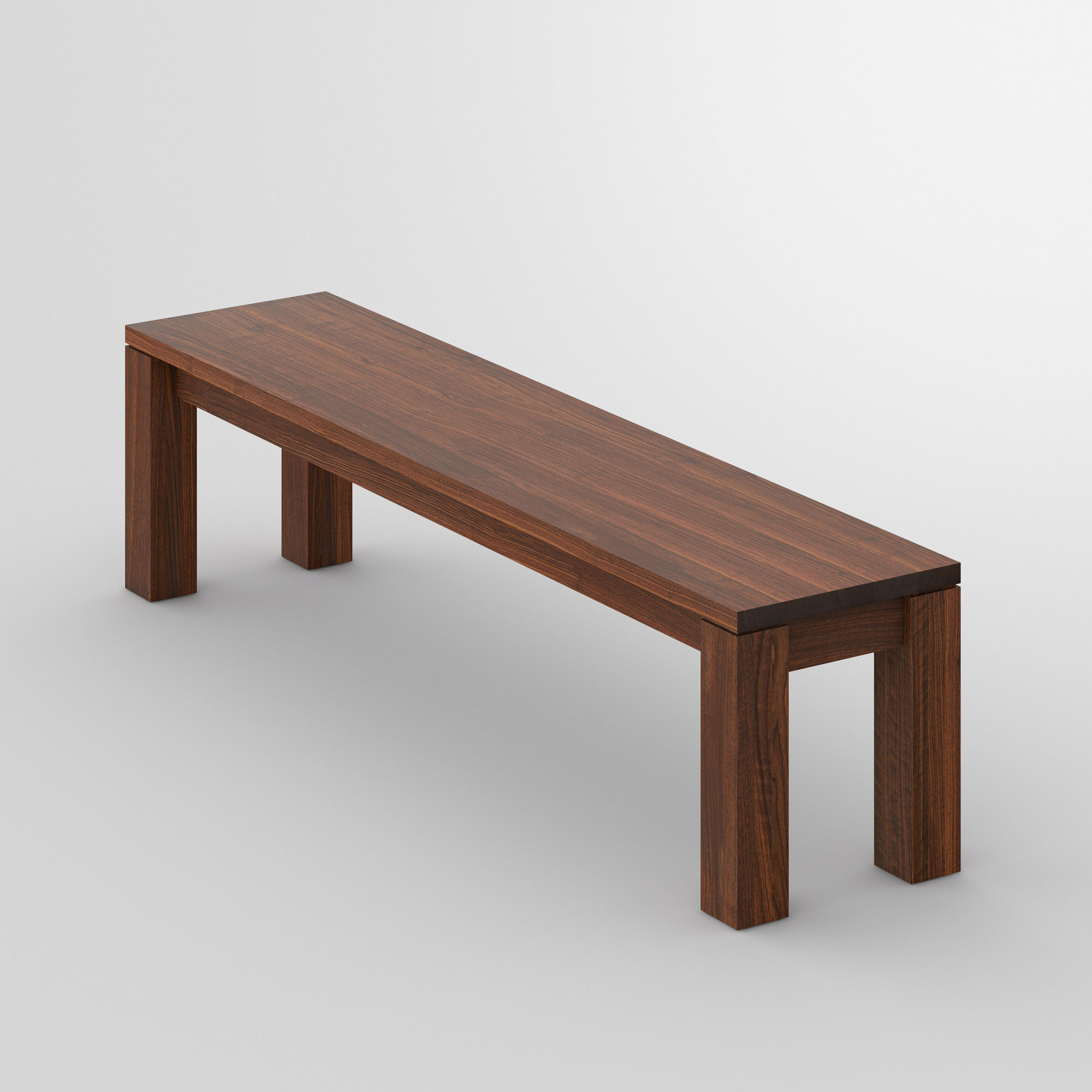 Wood Bench Rustic LIVING cam3 custom made in solid wood by vitamin design