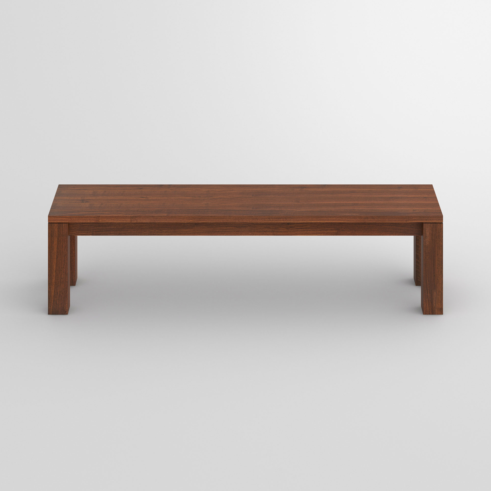 Wood Bench Rustic LIVING cam2 custom made in solid wood by vitamin design