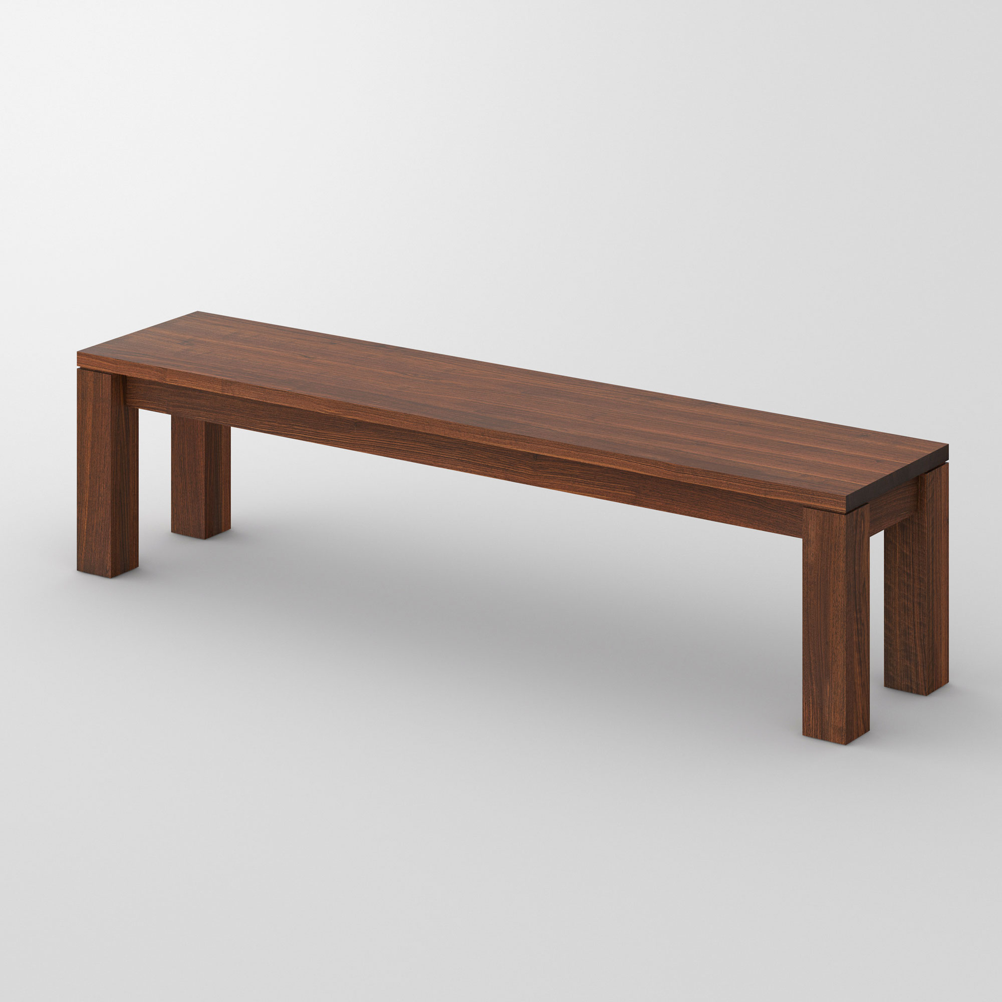 Wood Bench Rustic LIVING cam1 custom made in solid wood by vitamin design