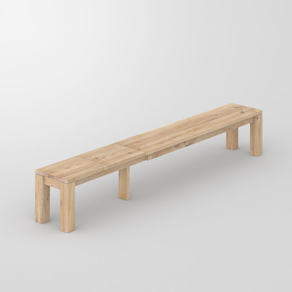 Pull-out Wood Bench LIVING EP cam3 custom made in solid wood by vitamin design