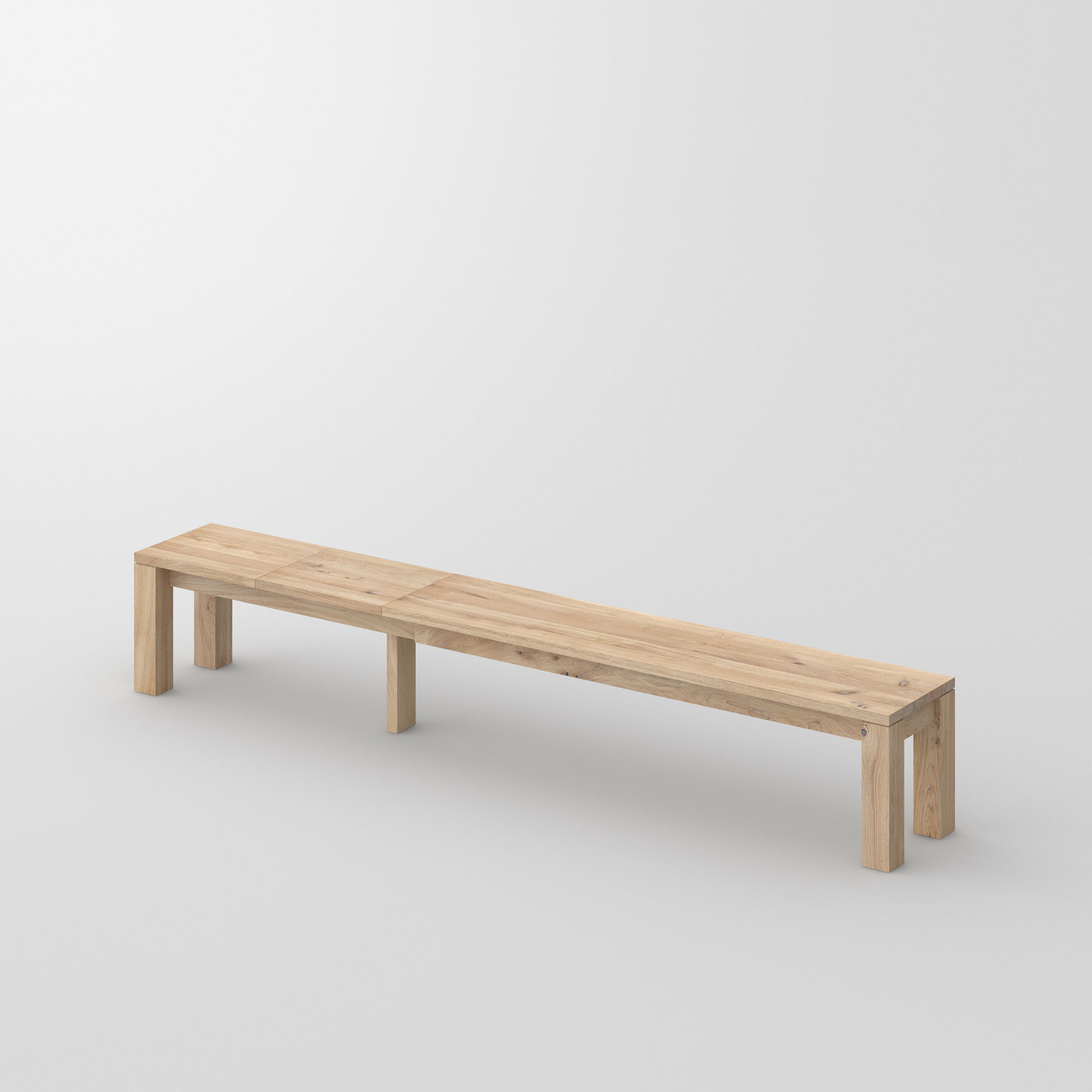 Pull-out Wood Bench LIVING EP cam1 custom made in solid wood by vitamin design