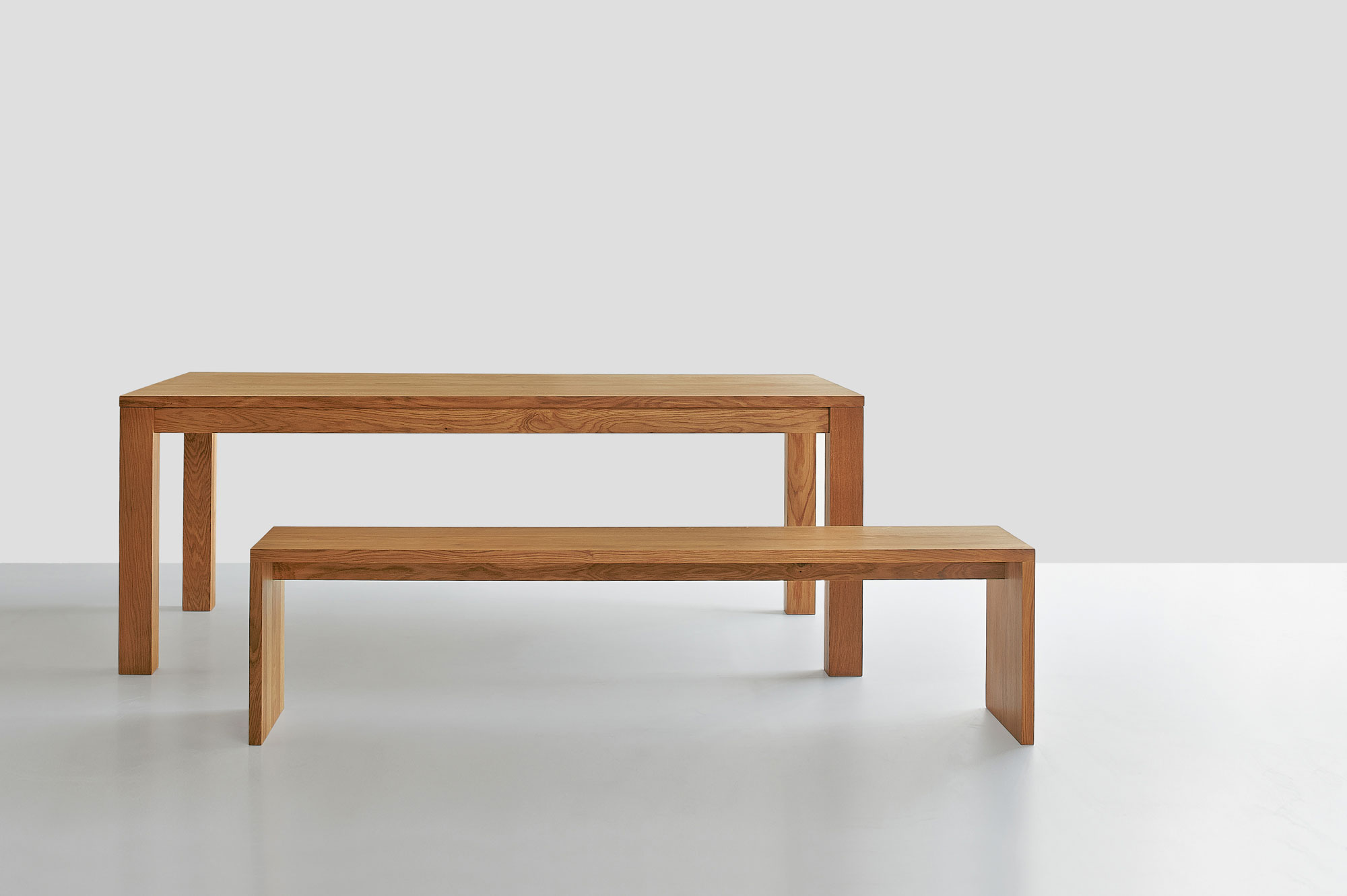 Solid Wood Bench MENA 3 1010 custom made in solid wood by vitamin design