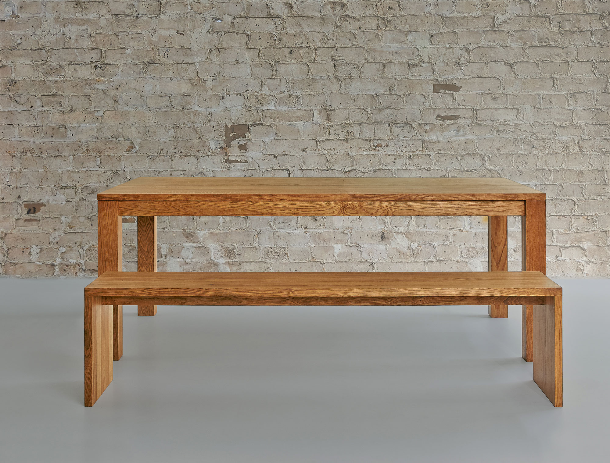 Solid Wood Bench MENA 3 1019 custom made in solid wood by vitamin design
