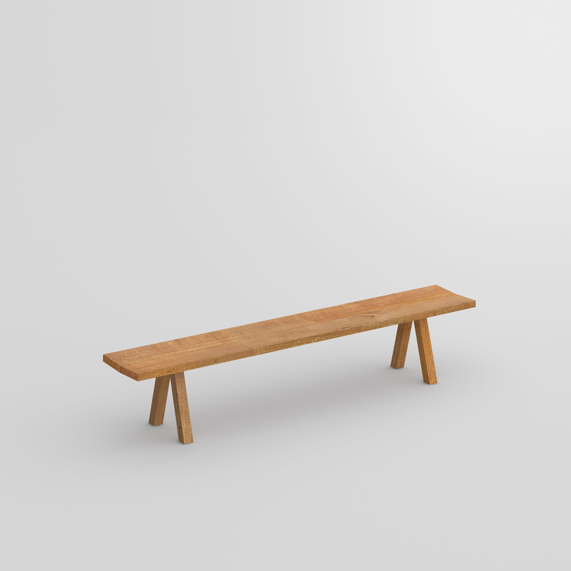Wooden Designer Bench PAPILIO SIMPLE cam1 custom made in solid wood by vitamin design