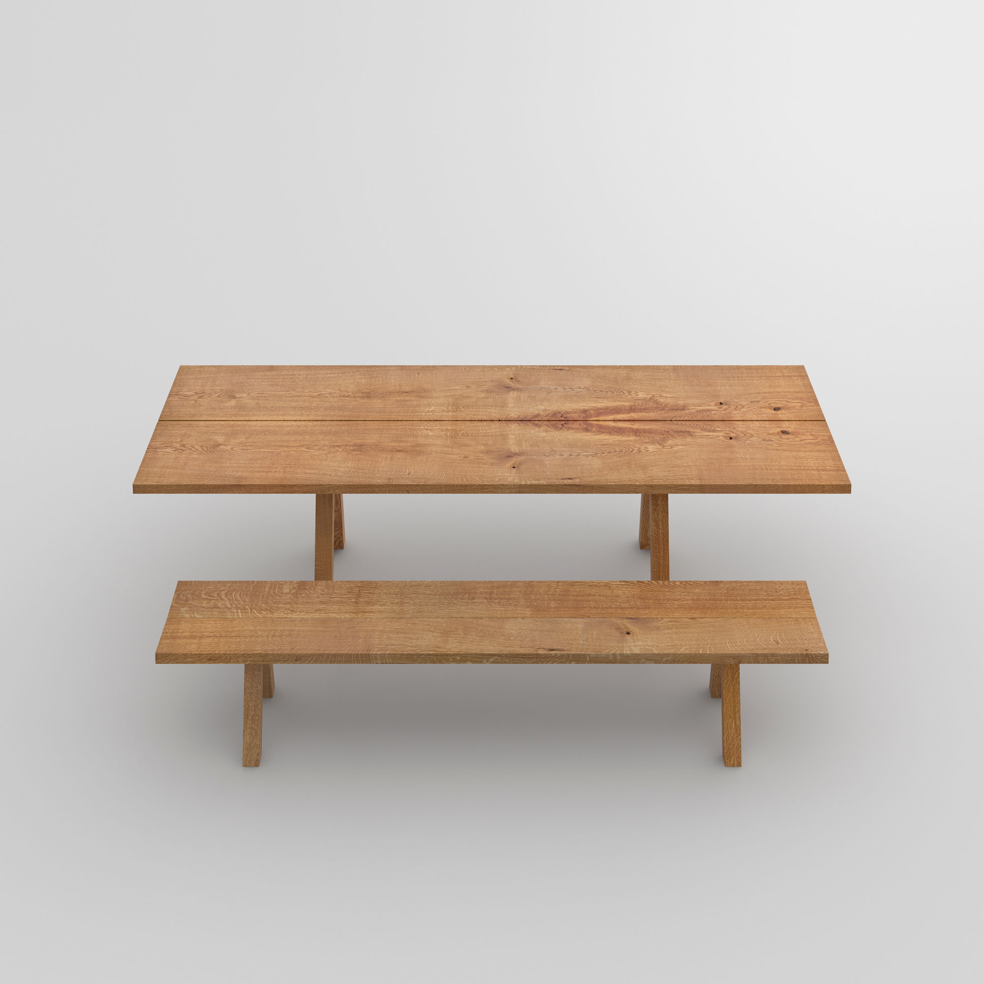 Wooden Designer Bench PAPILIO SIMPLE cam2 custom made in solid wood by vitamin design
