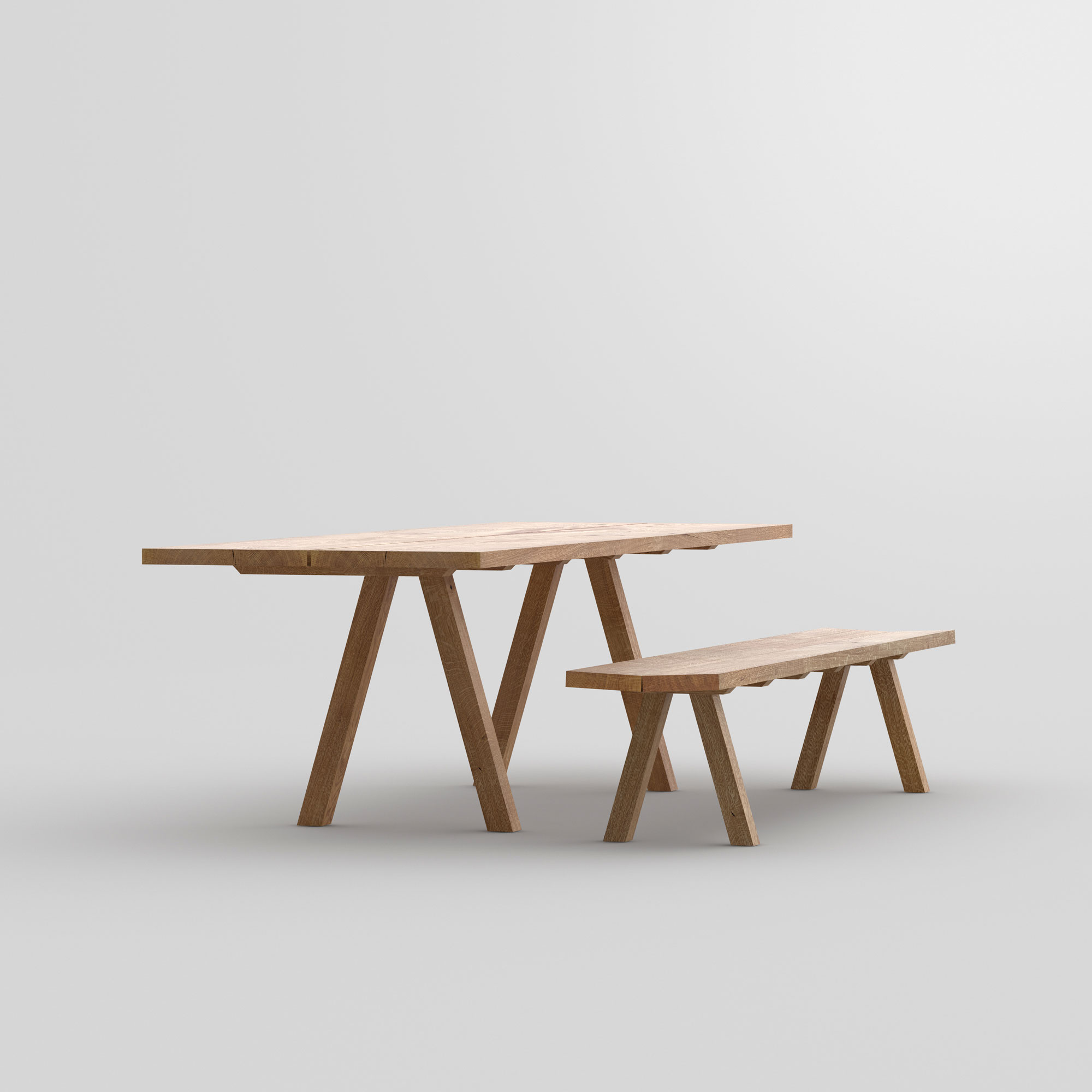 Wooden Designer Bench PAPILIO SIMPLE cam3 custom made in solid wood by vitamin design