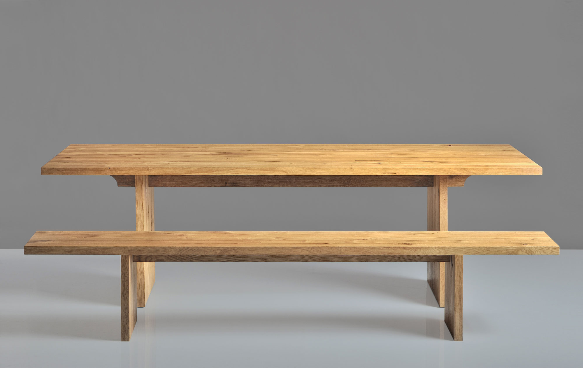 Solid Wood Bench SAGA 1422A custom made in solid wood by vitamin design