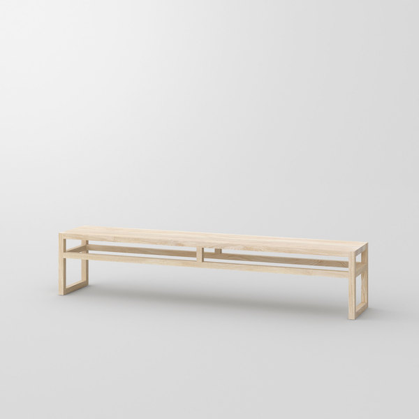 Dining Room Wood Bench SENA cam1 custom made in solid wood by vitamin design