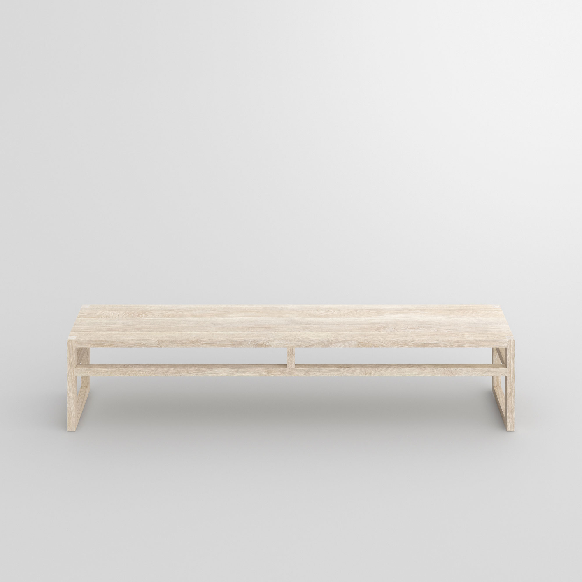 Dining Room Wood Bench SENA cam3 custom made in solid wood by vitamin design