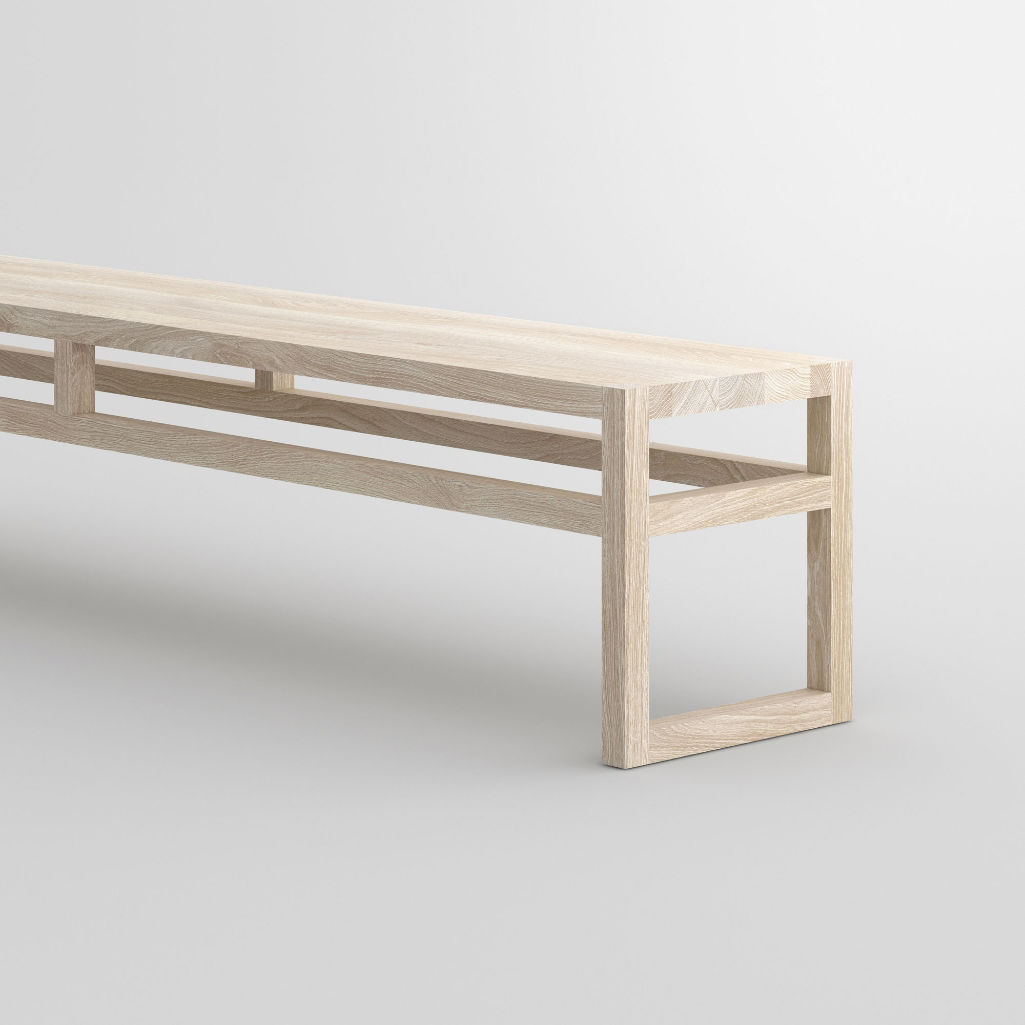 Dining Room Wood Bench SENA cam2 custom made in solid wood by vitamin design