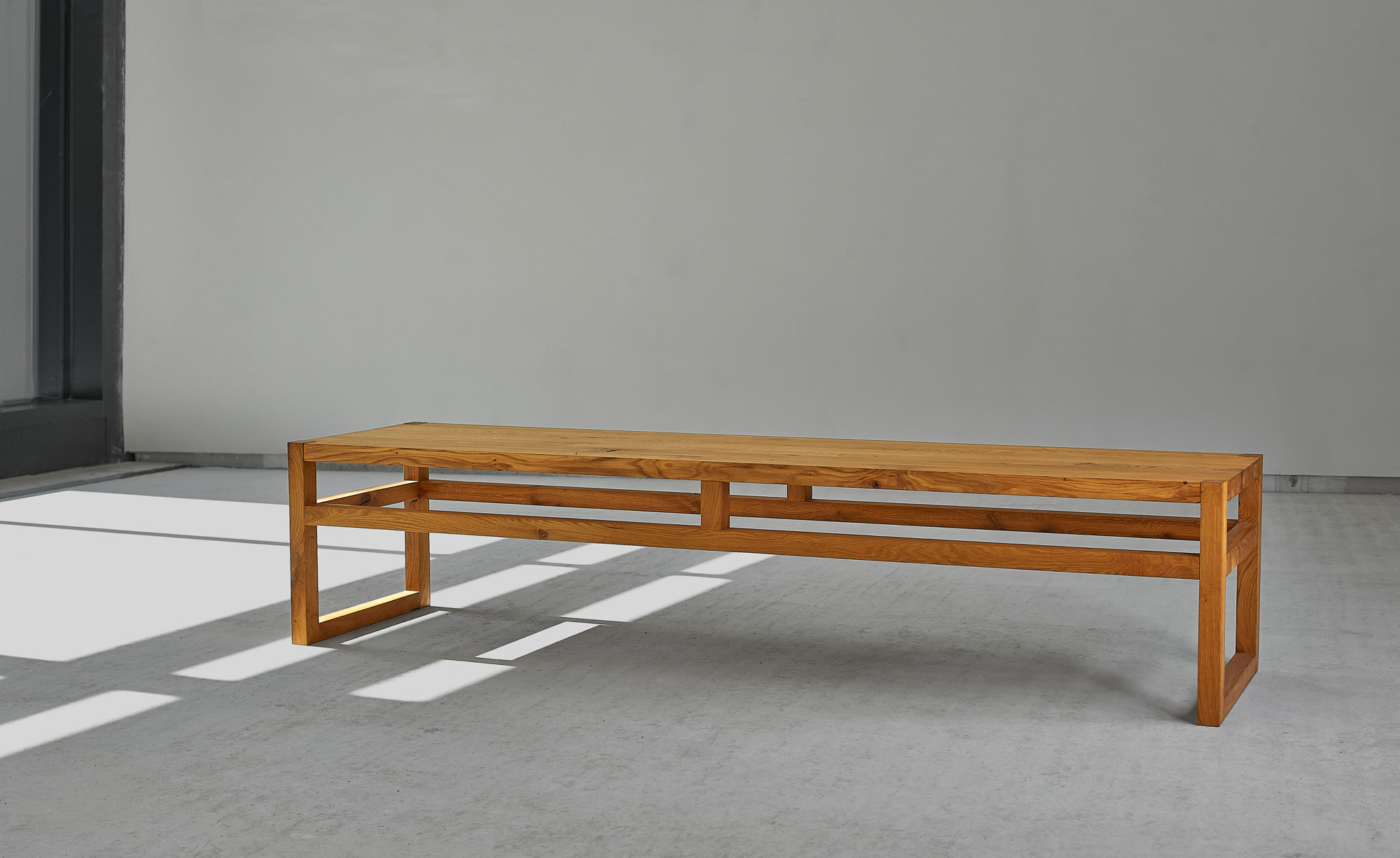 Dining Room Wood Bench SENA 00154 custom made in solid wood by vitamin design