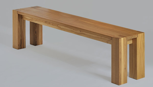 Rustic Solid Bench TAURUS 3 1336sA custom made in solid wood by vitamin design