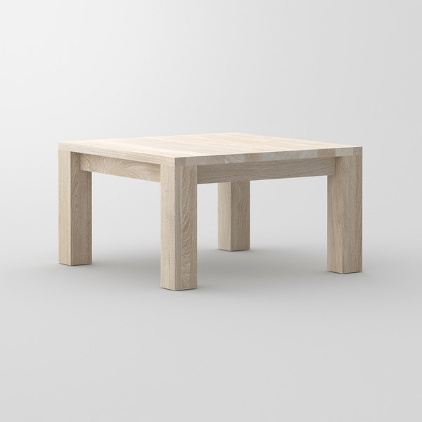 Coffee Table in Oak CUBUS cam3 custom made in solid wood by vitamin design
