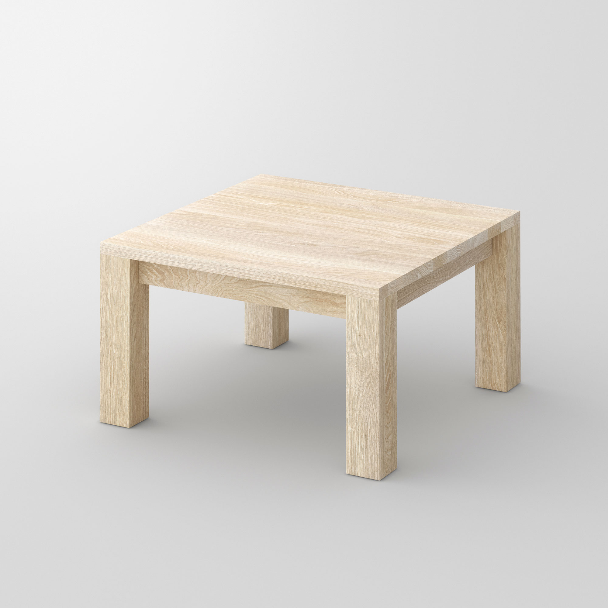 Coffee Table in Oak CUBUS cam1 custom made in solid wood by vitamin design