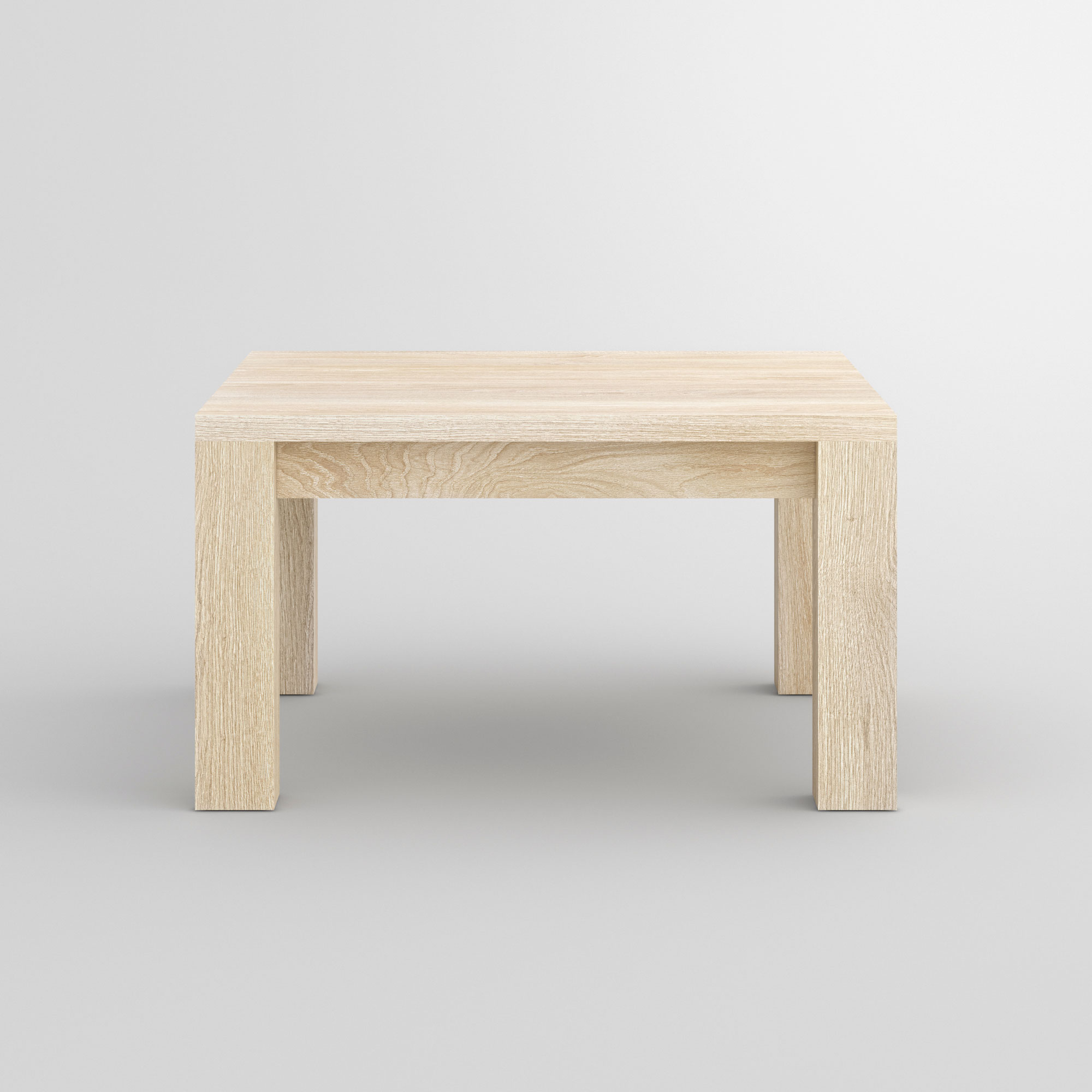 Coffee Table in Oak CUBUS cam2 custom made in solid wood by vitamin design