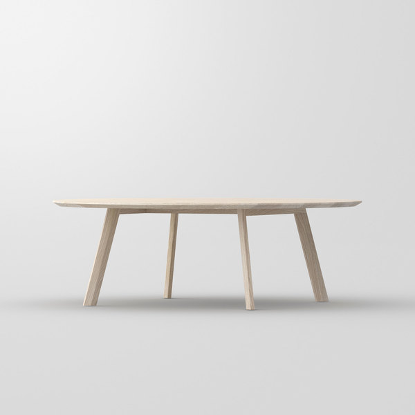 Round Coffee Table RHOMBI ROUND cam1 custom made in solid wood by vitamin design