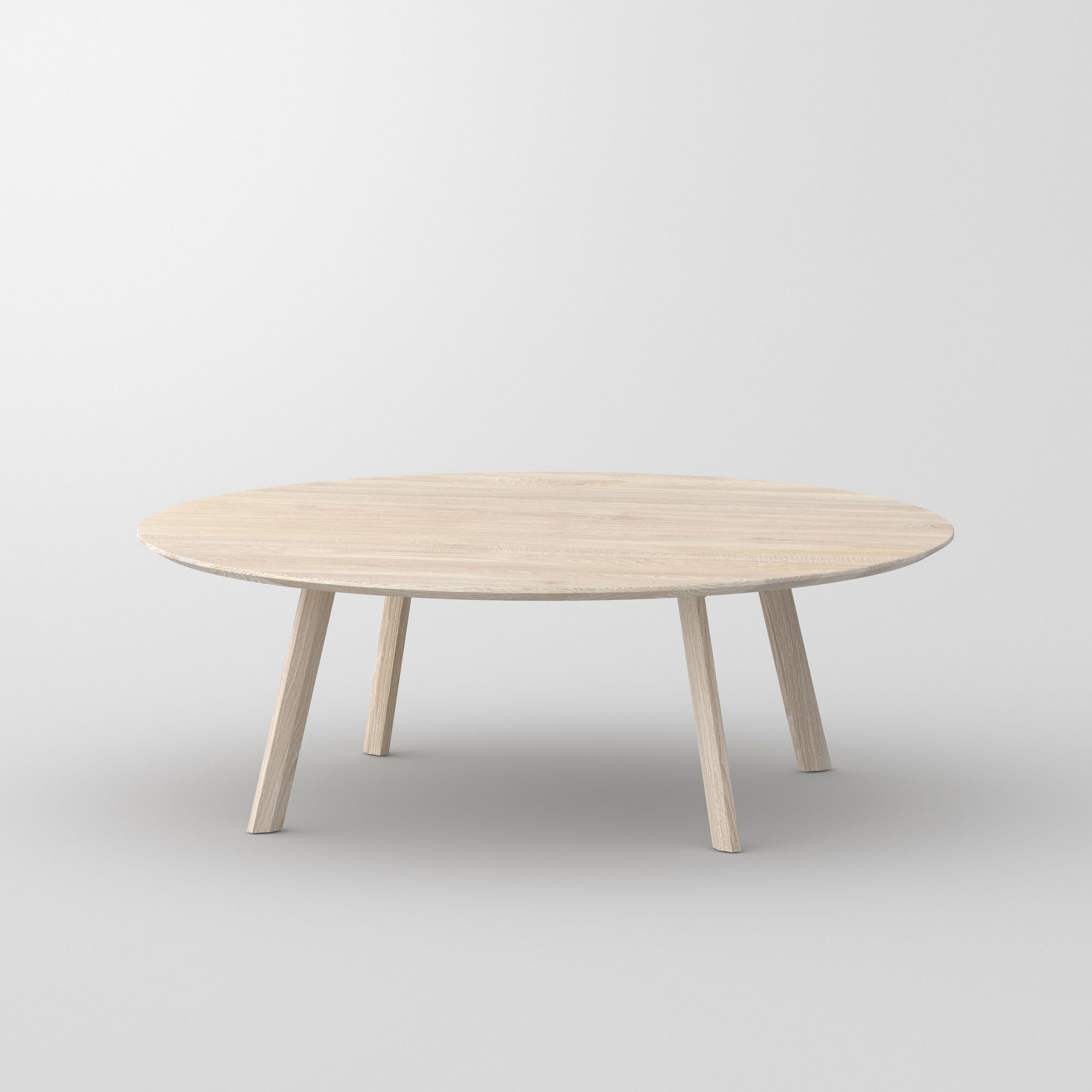 Round Coffee Table RHOMBI ROUND cam2 custom made in solid wood by vitamin design