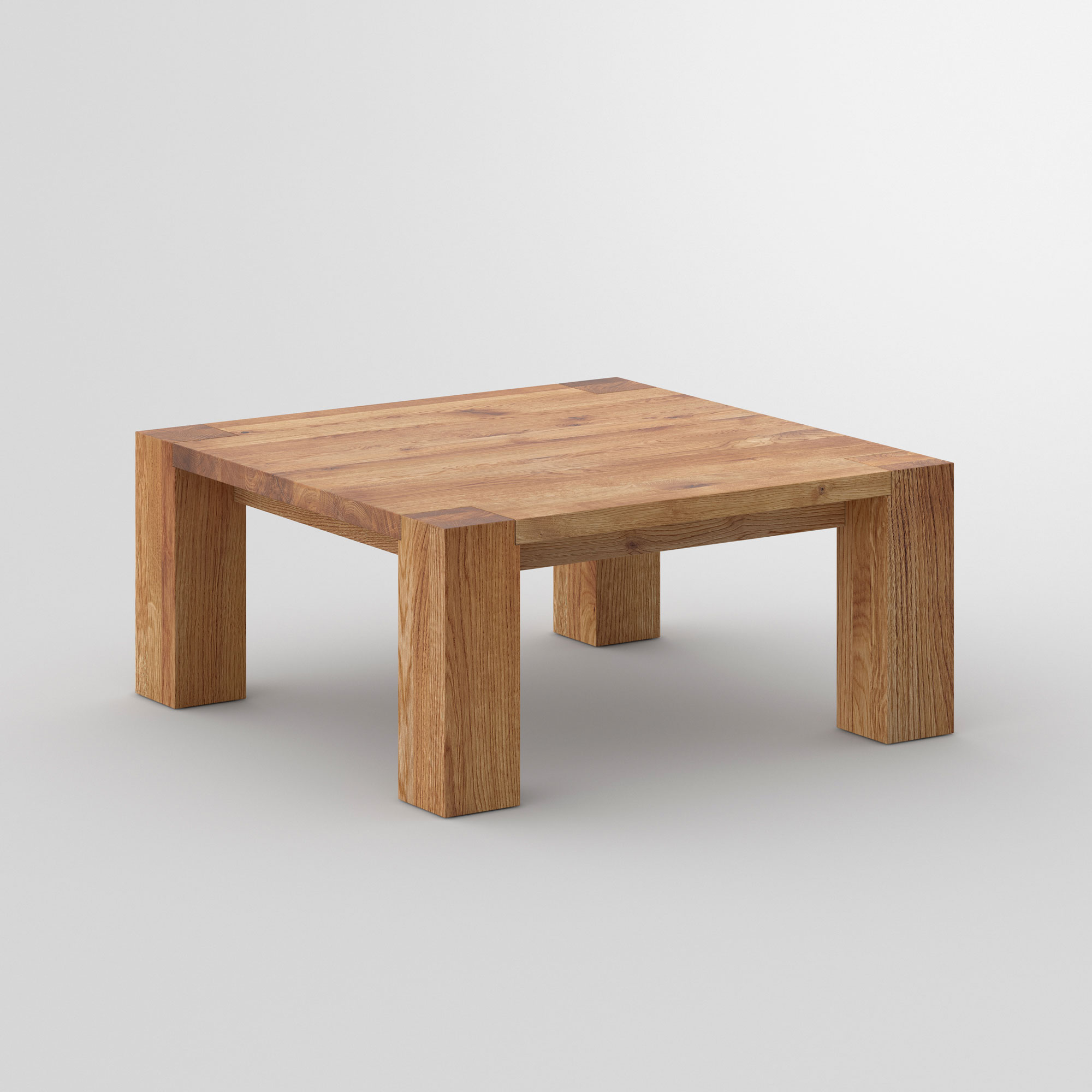 Solid Wood Coffee Table TAURUS 4 B14X14 cam2 custom made in solid wood by vitamin design