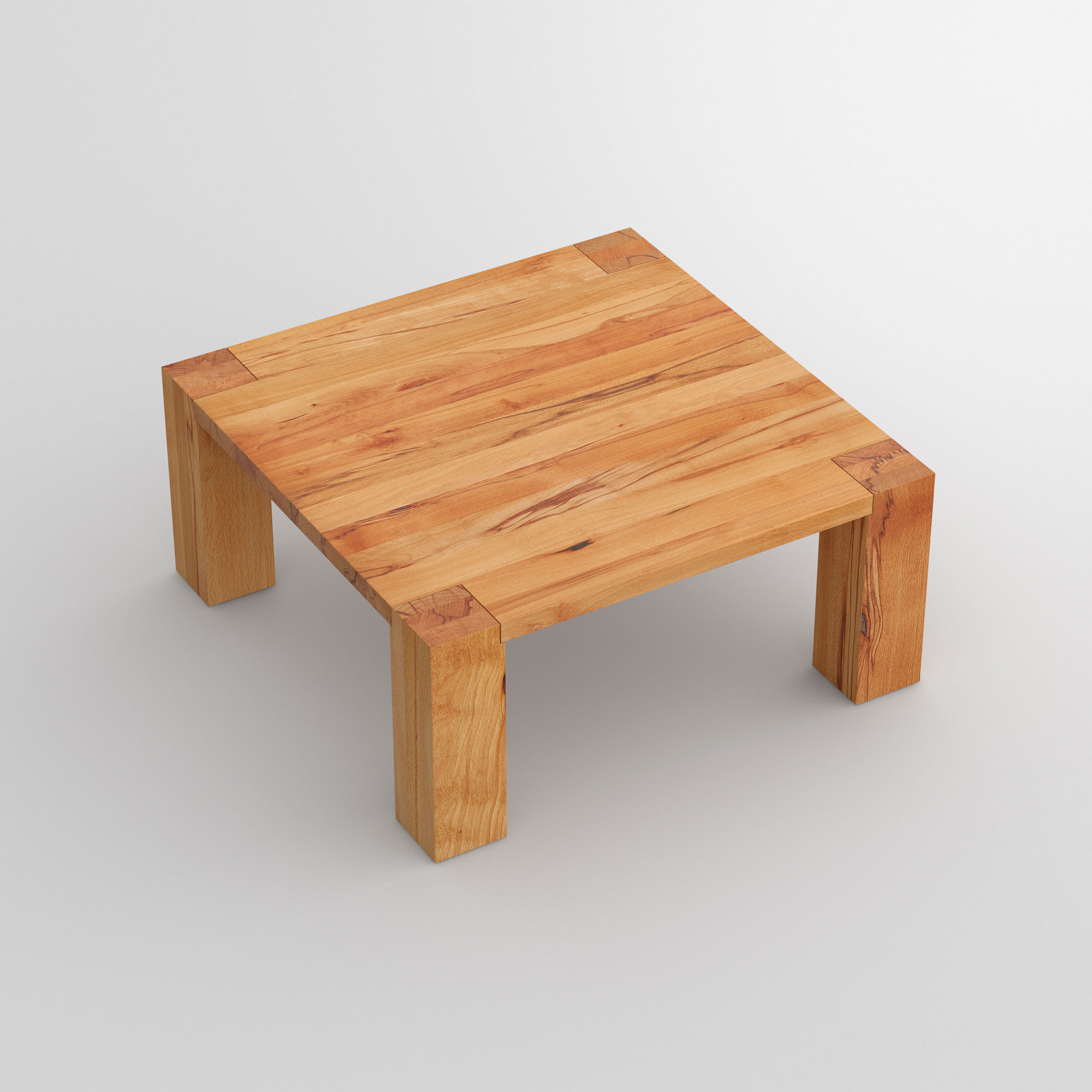 Solid Wood Coffee Table TAURUS 4 B14X14 cam3 custom made in solid wood by vitamin design