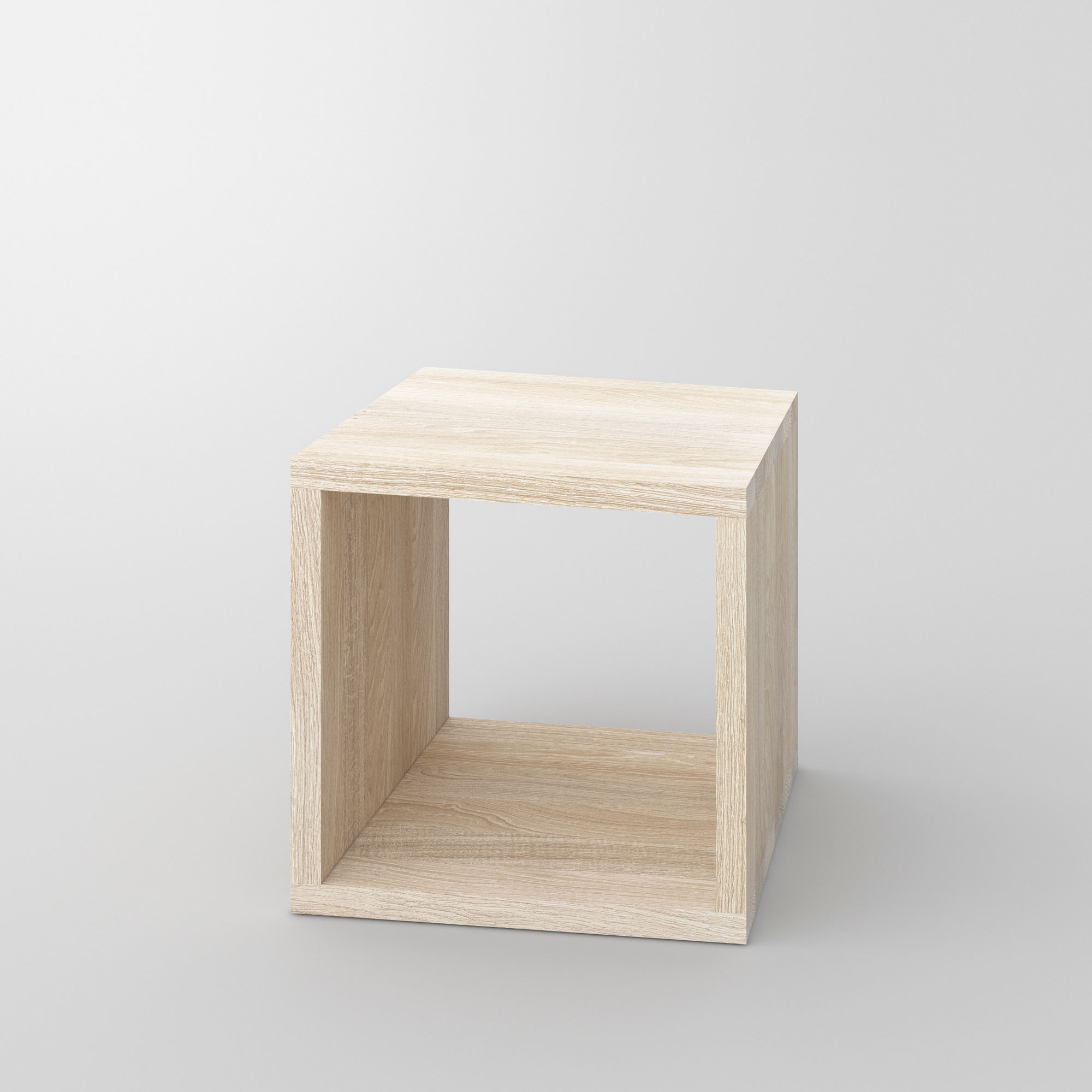 Multifunctional Wooden Stool MENA B 3 custom made in solid wood by vitamin design