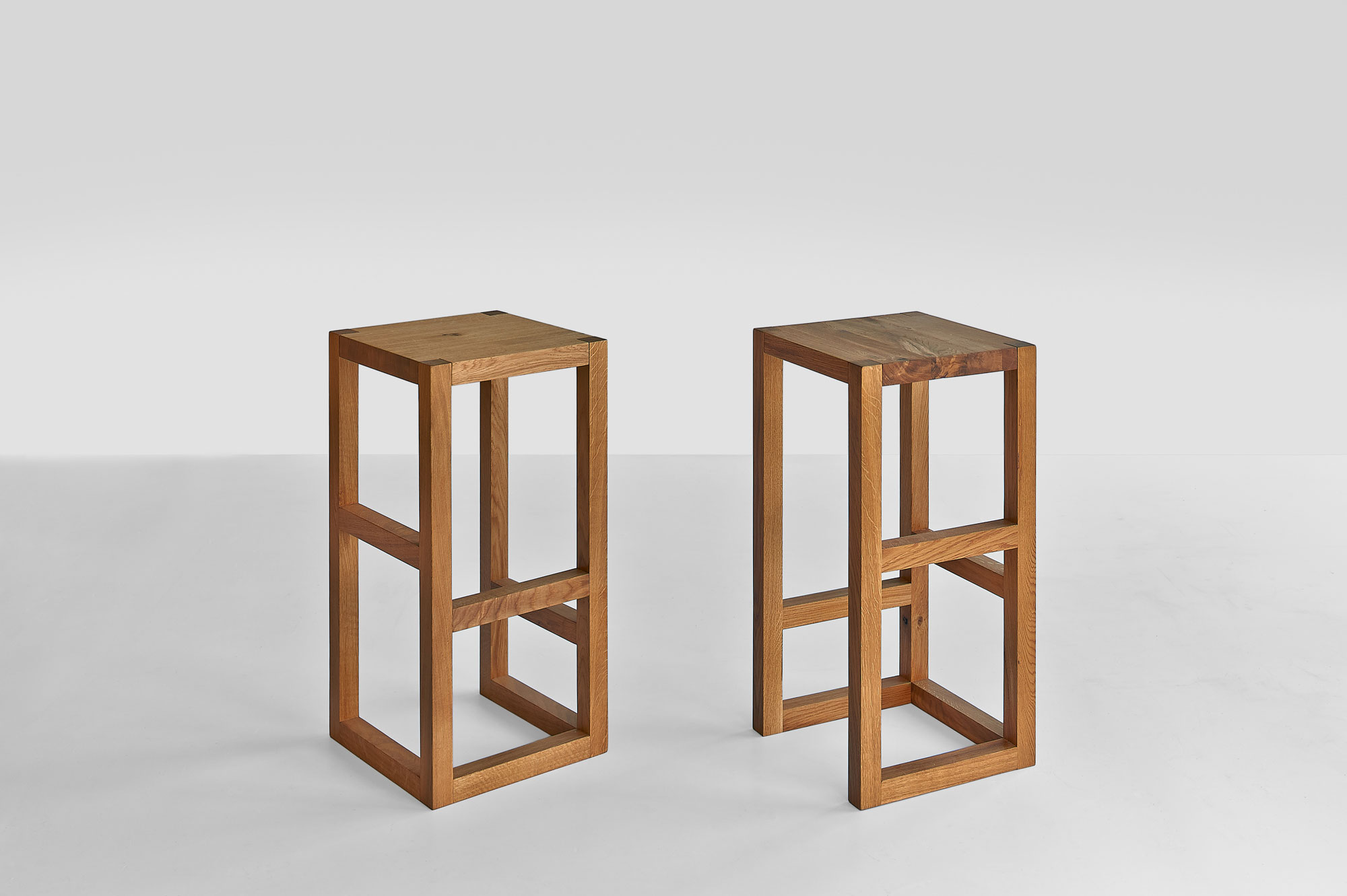 Bar Stool Solid Wood STEP 1488 custom made in solid wood by vitamin design