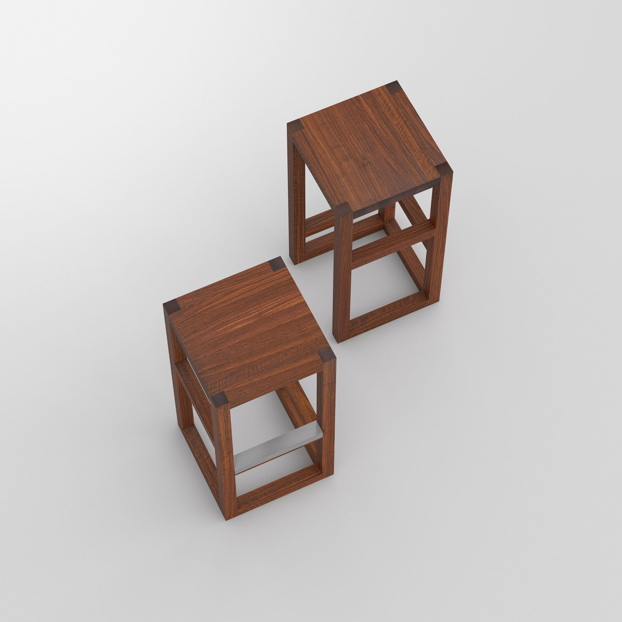 Bar Stool Solid Wood STEP cam2 custom made in solid wood by vitamin design