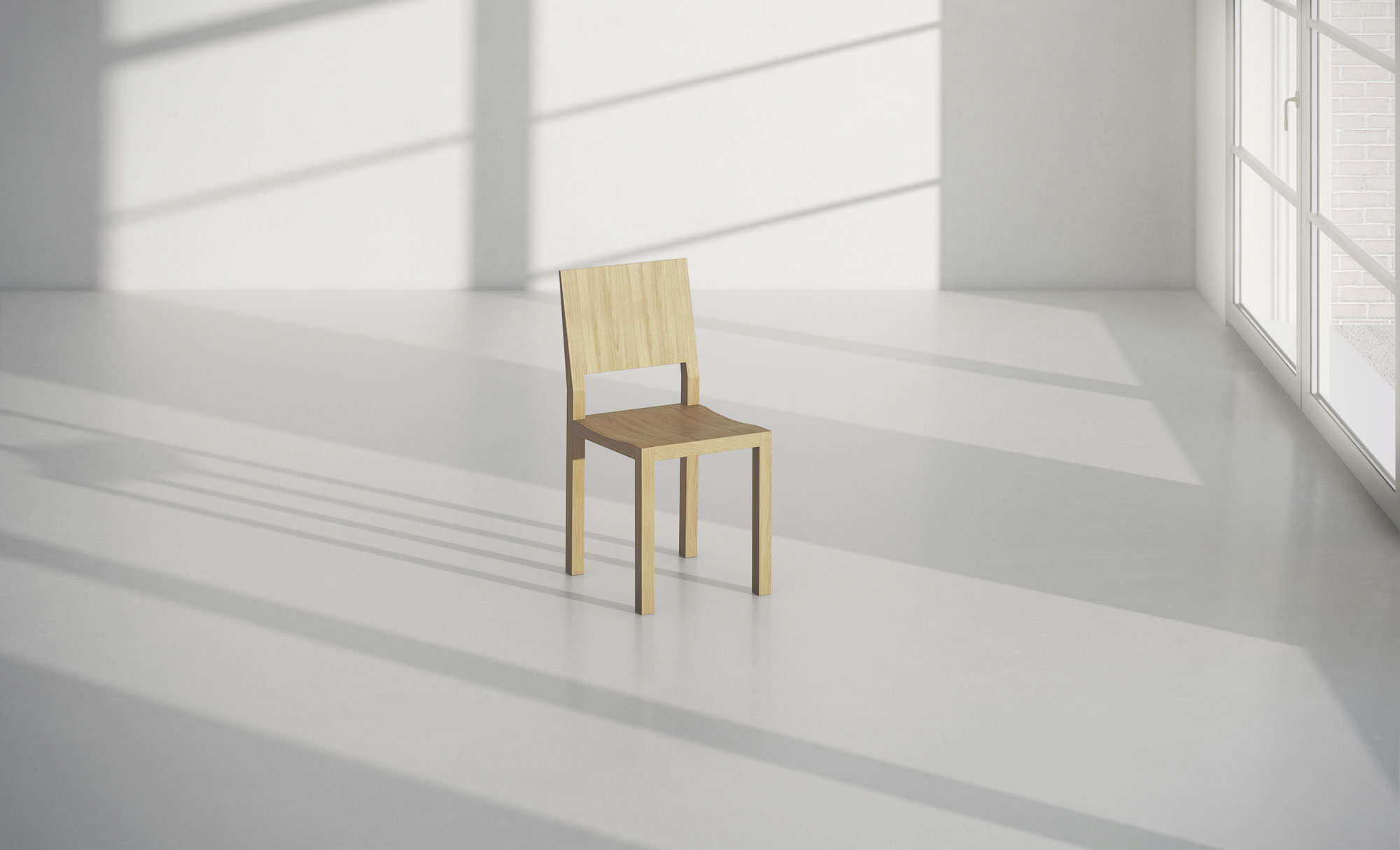 Solid Wood Chair TAU TAU-studio custom made in solid wood by vitamin design