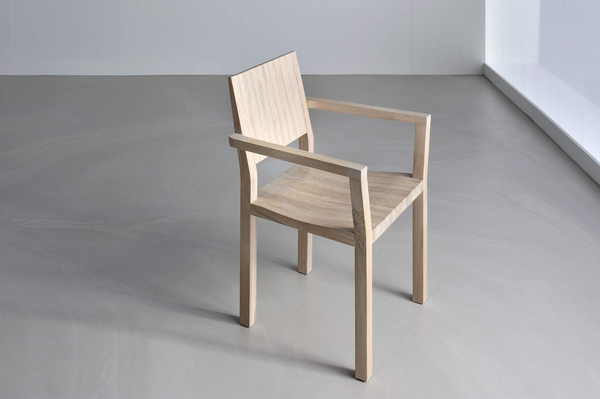 Solid Wood Armchair TAU-A 3343 custom made in solid wood by vitamin design