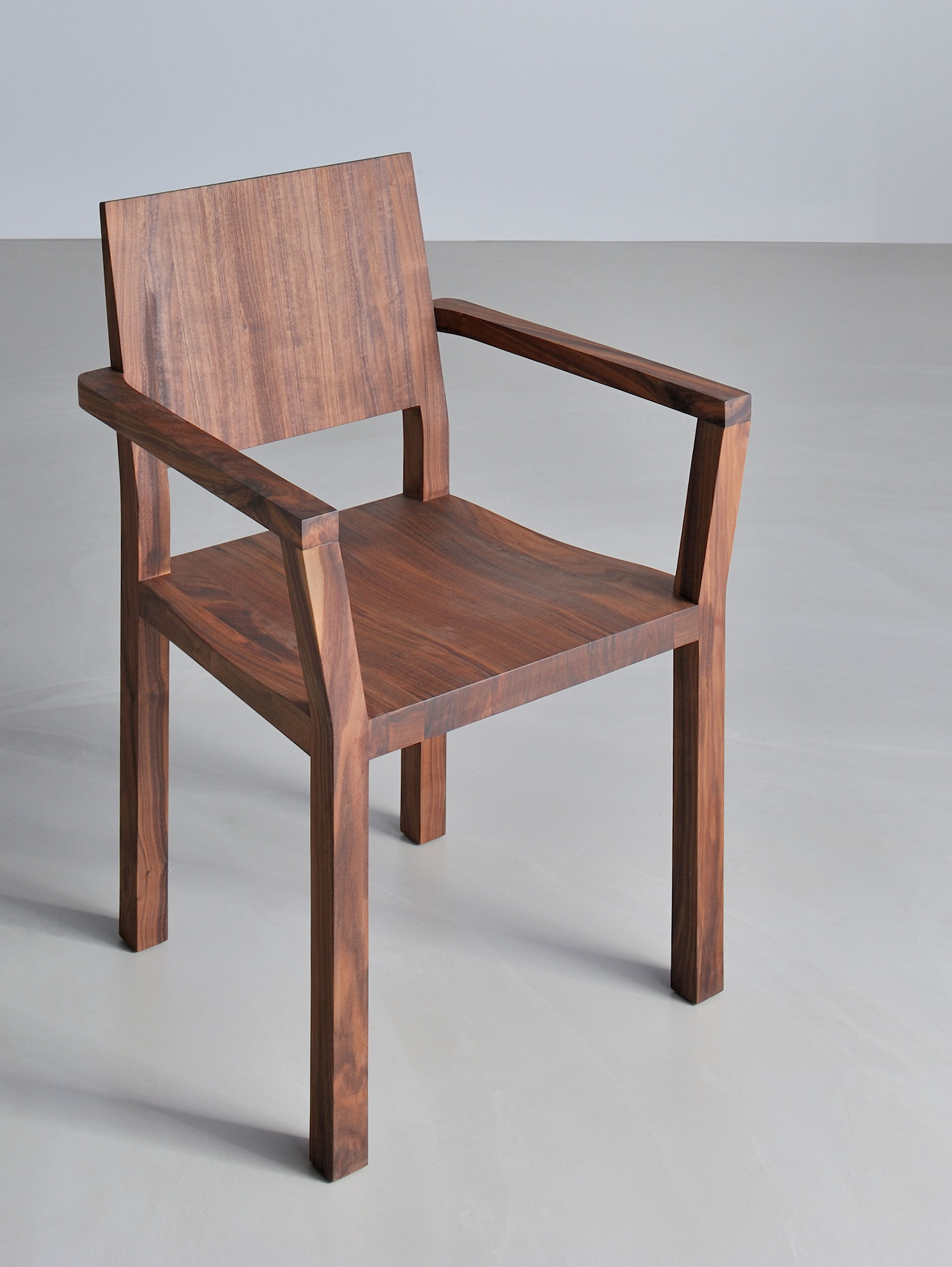 Solid Wood Armchair TAU-A 3330a custom made in solid wood by vitamin design