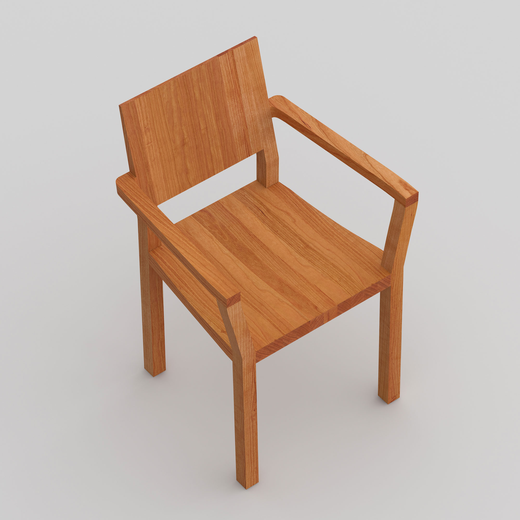 Solid Wood Armchair TAU-A cam2 custom made in solid wood by vitamin design