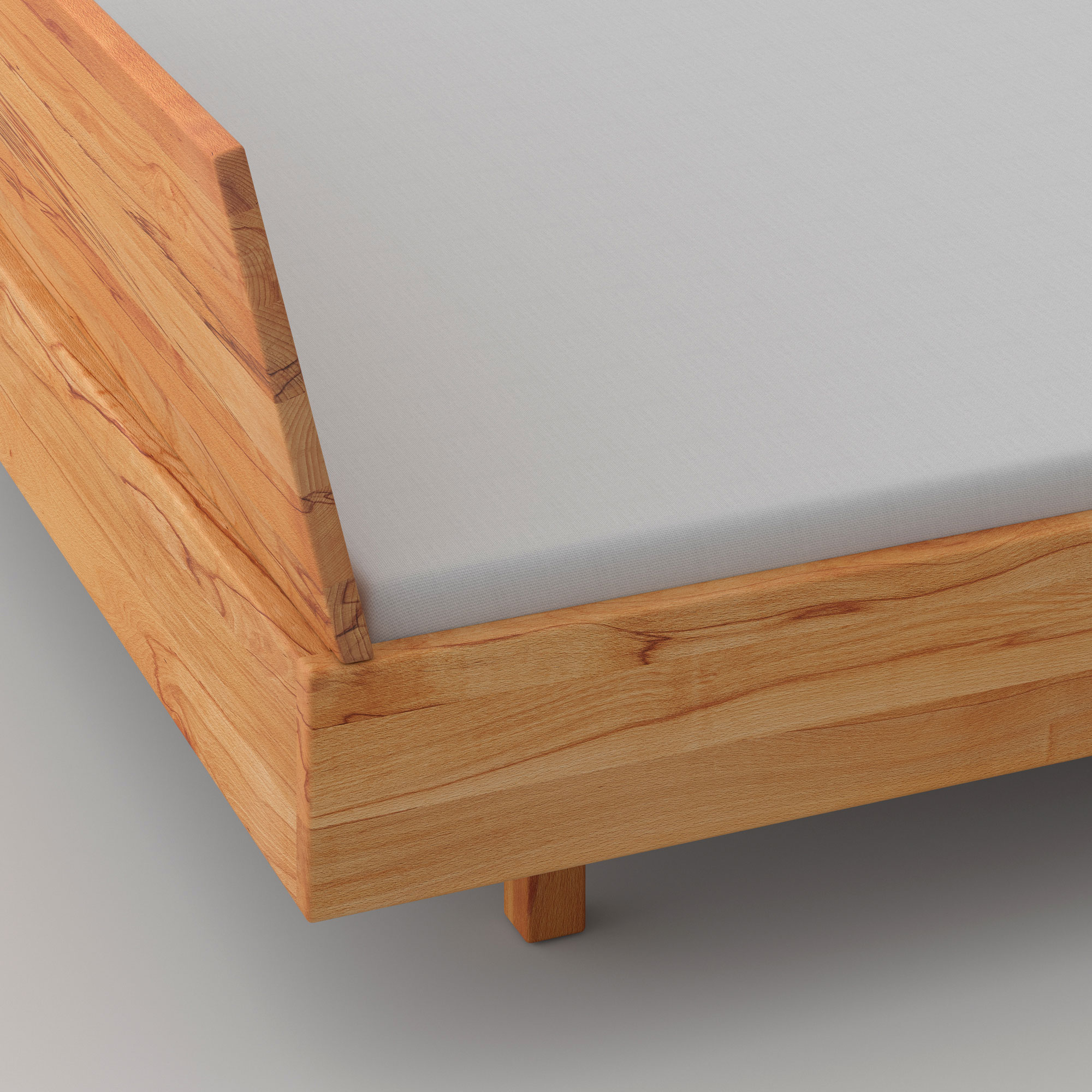 Solid Wooden Bed QUADRA SOFT cam4 custom made in solid wood by vitamin design
