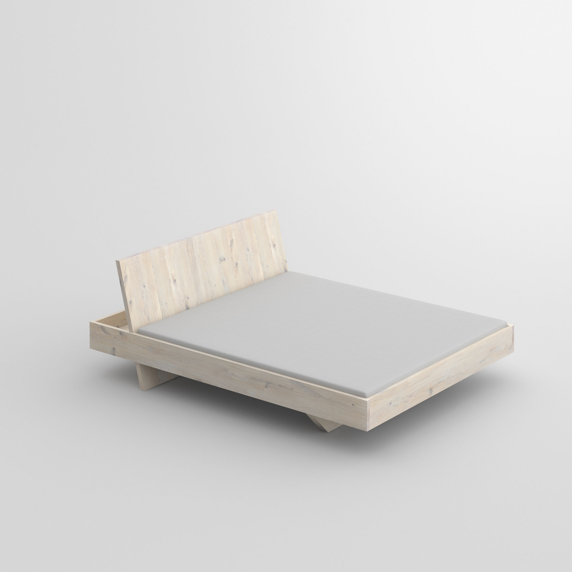 Design Solid Wood Bed SOMNIA cam2 custom made in solid wood by vitamin design