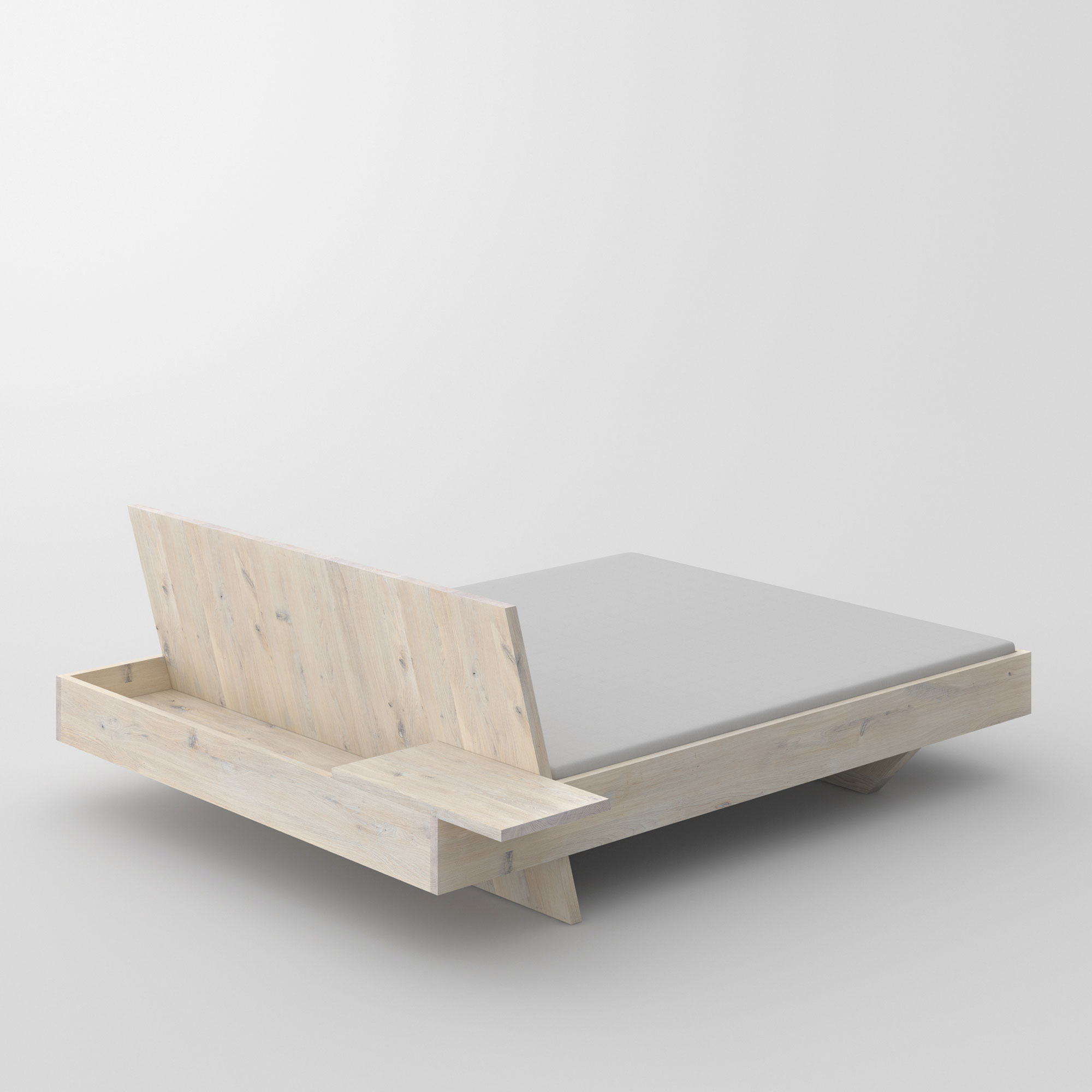 Design Solid Wood Bed SOMNIA cam3 custom made in solid wood by vitamin design