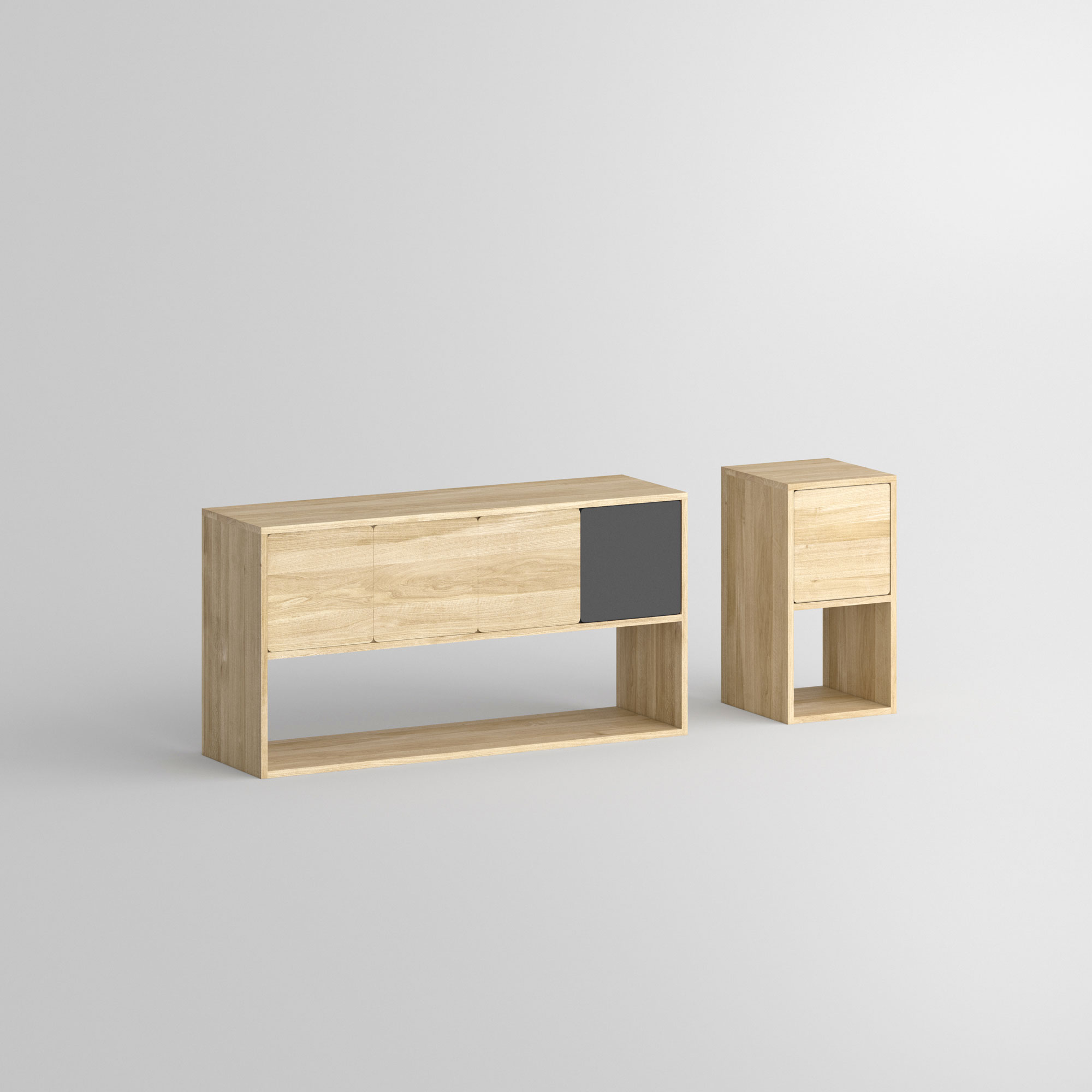 Wooden Sideboard CAVUS 1t custom made in solid wood by vitamin design