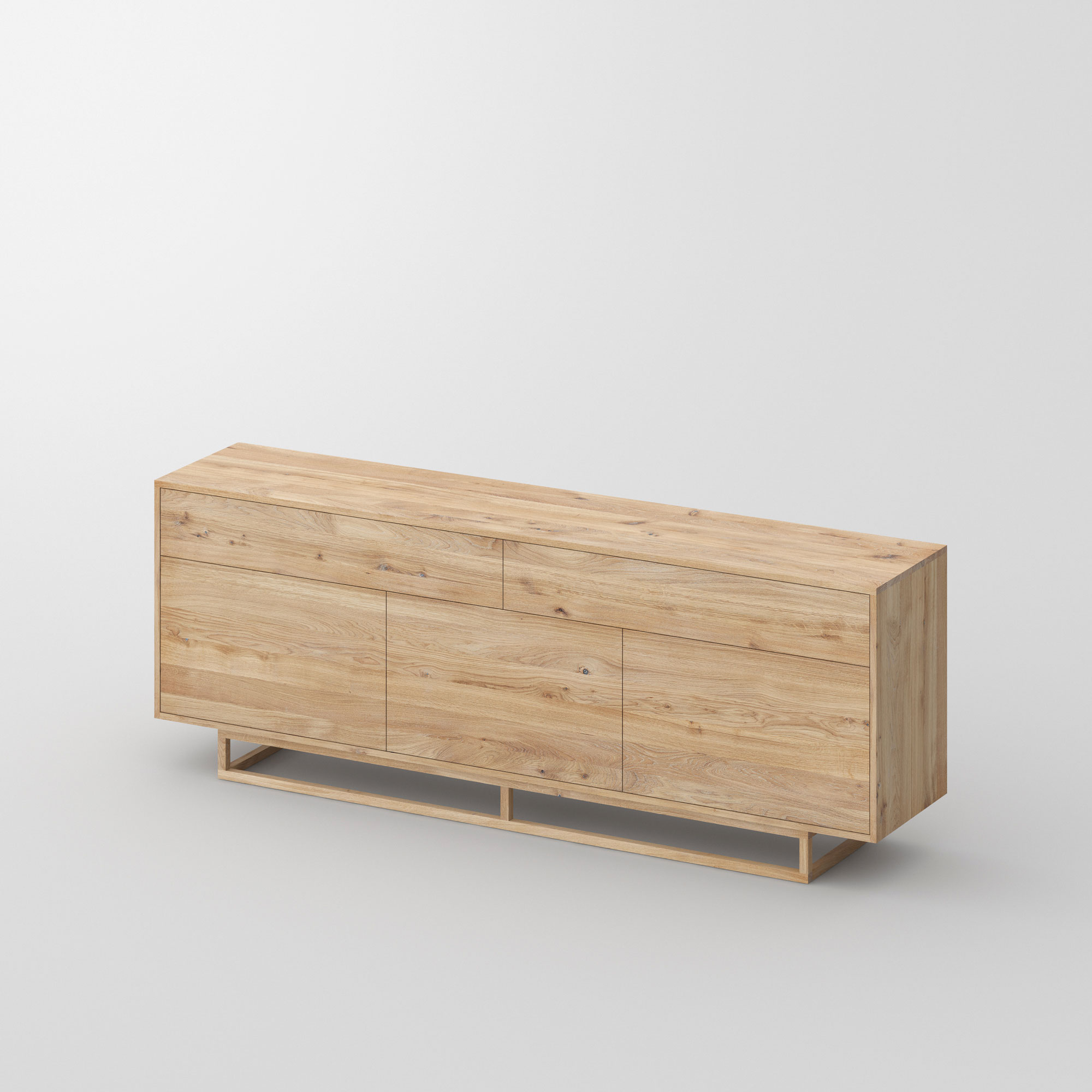 Wooden Designer Sideboard LINEA cam1 custom made in solid wood by vitamin design