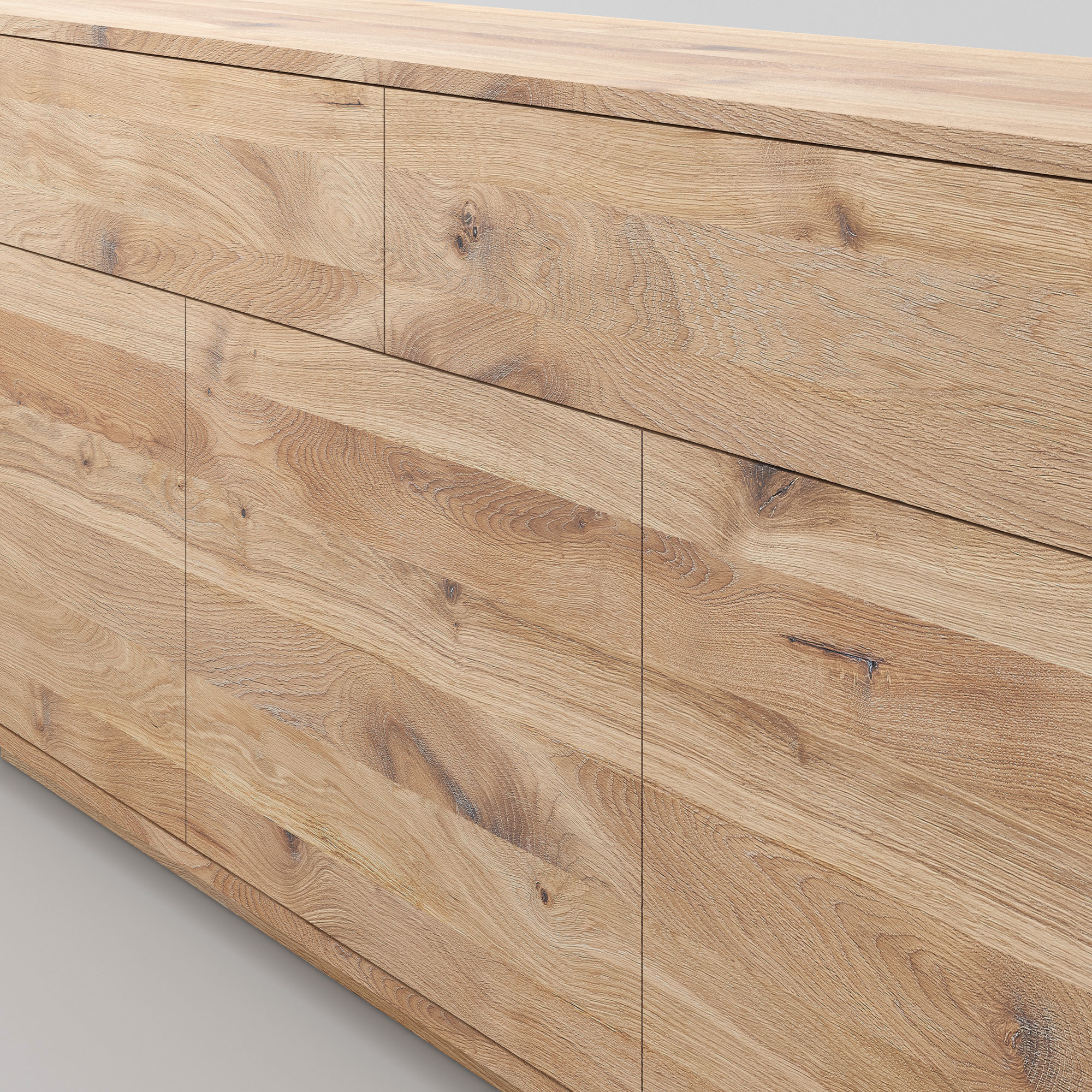 Wooden Designer Sideboard LINEA cam4 custom made in solid wood by vitamin design