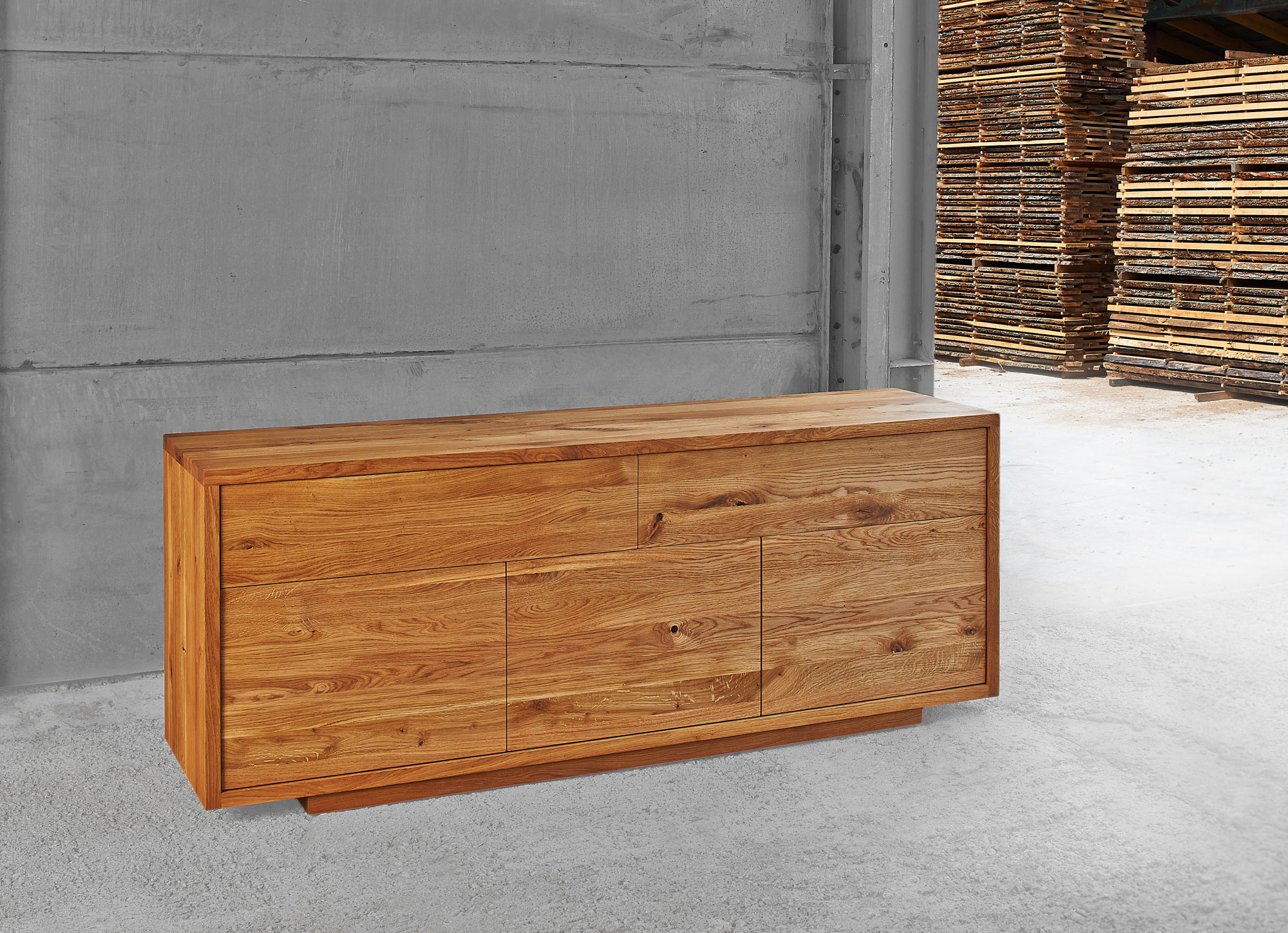 Wooden Designer Sideboard LINEA 0675a custom made in solid wood by vitamin design