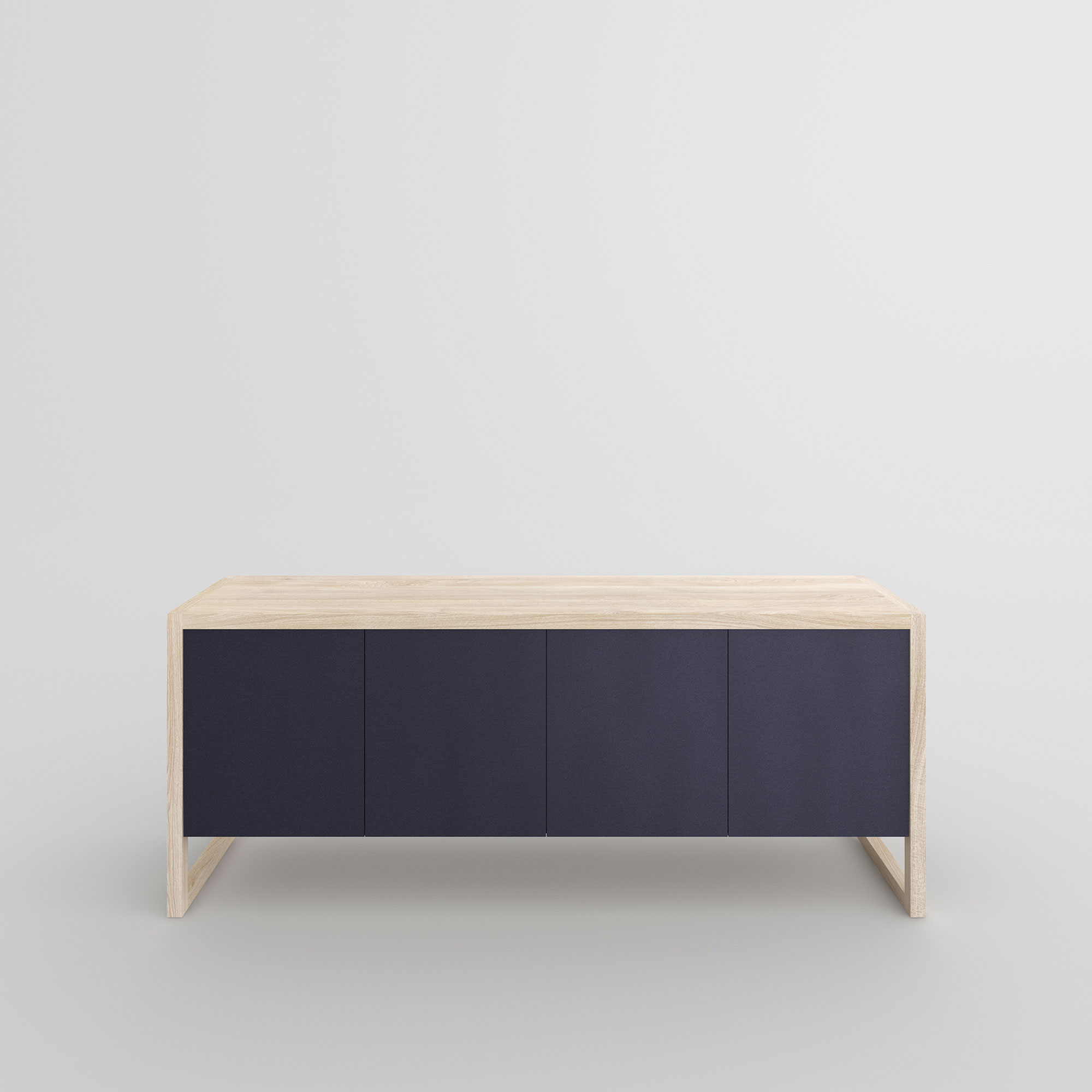 BIO-MDF Wood Sideboard SENA cam3 custom made in solid wood by vitamin design