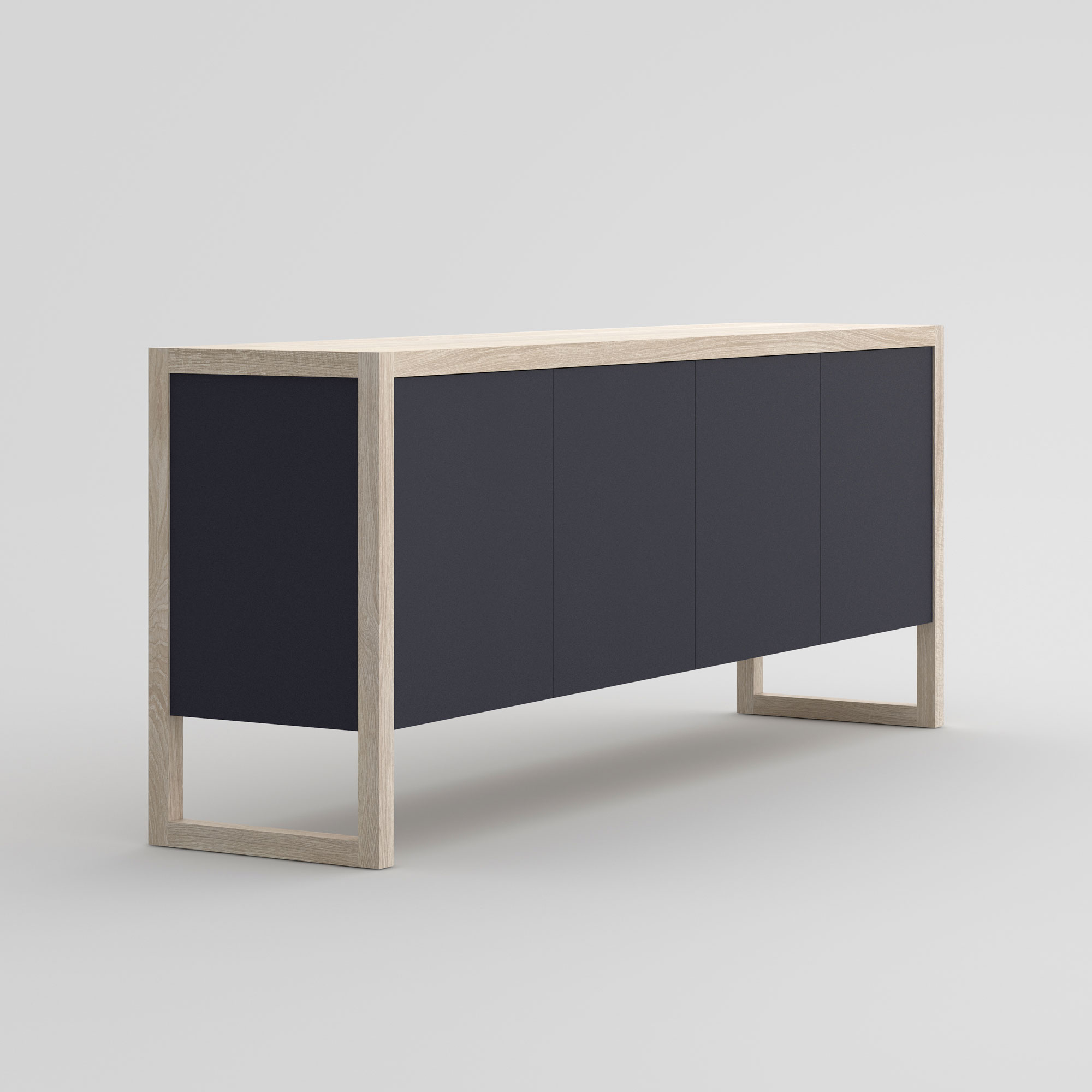 BIO-MDF Wood Sideboard SENA cam2 custom made in solid wood by vitamin design