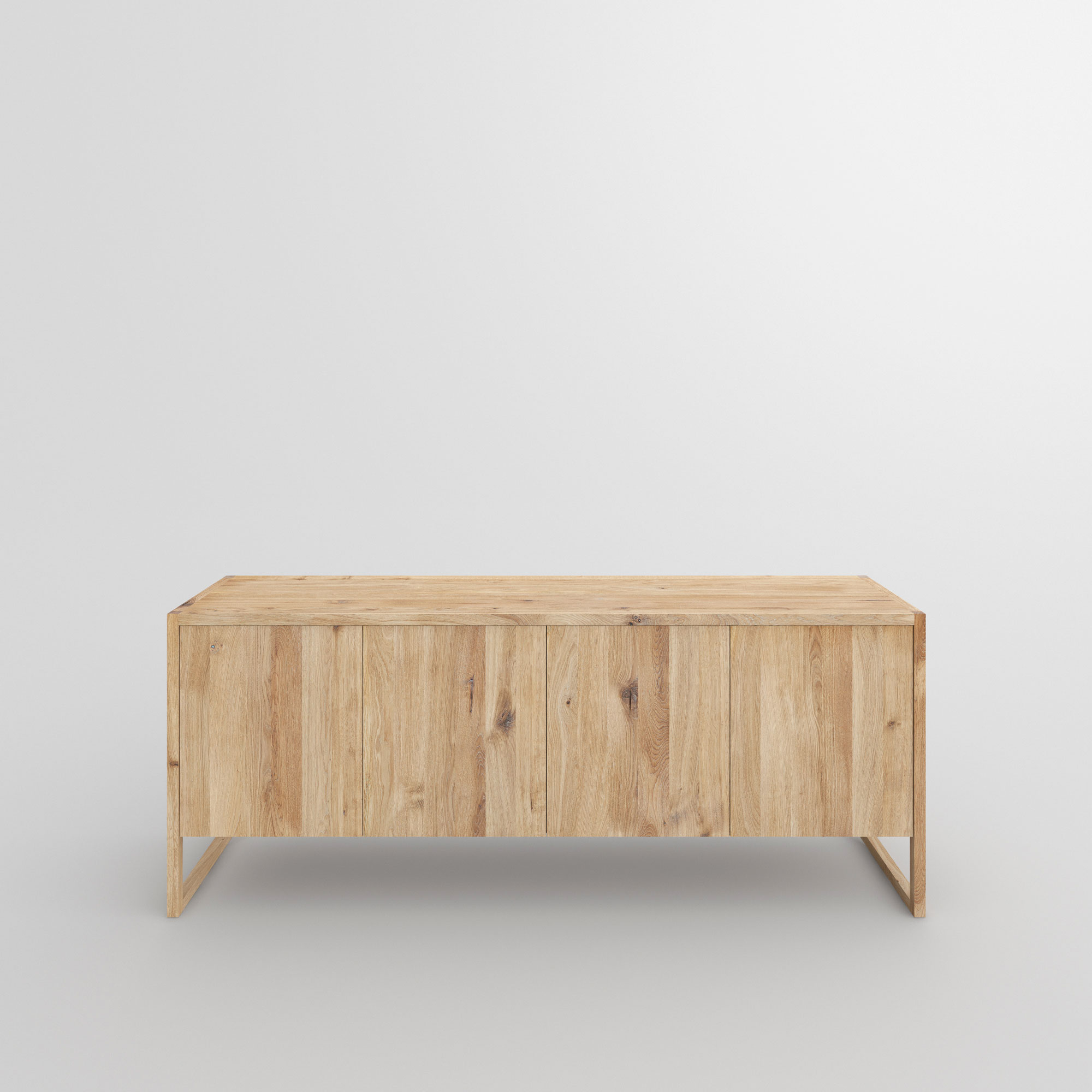 BIO-MDF Wood Sideboard SENA 1 custom made in solid wood by vitamin design