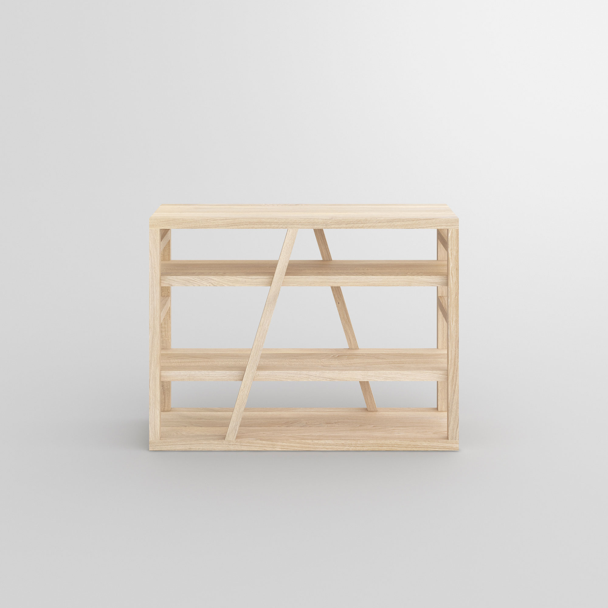 Wooden Shelf FACHWERK cam2 custom made in solid wood by vitamin design