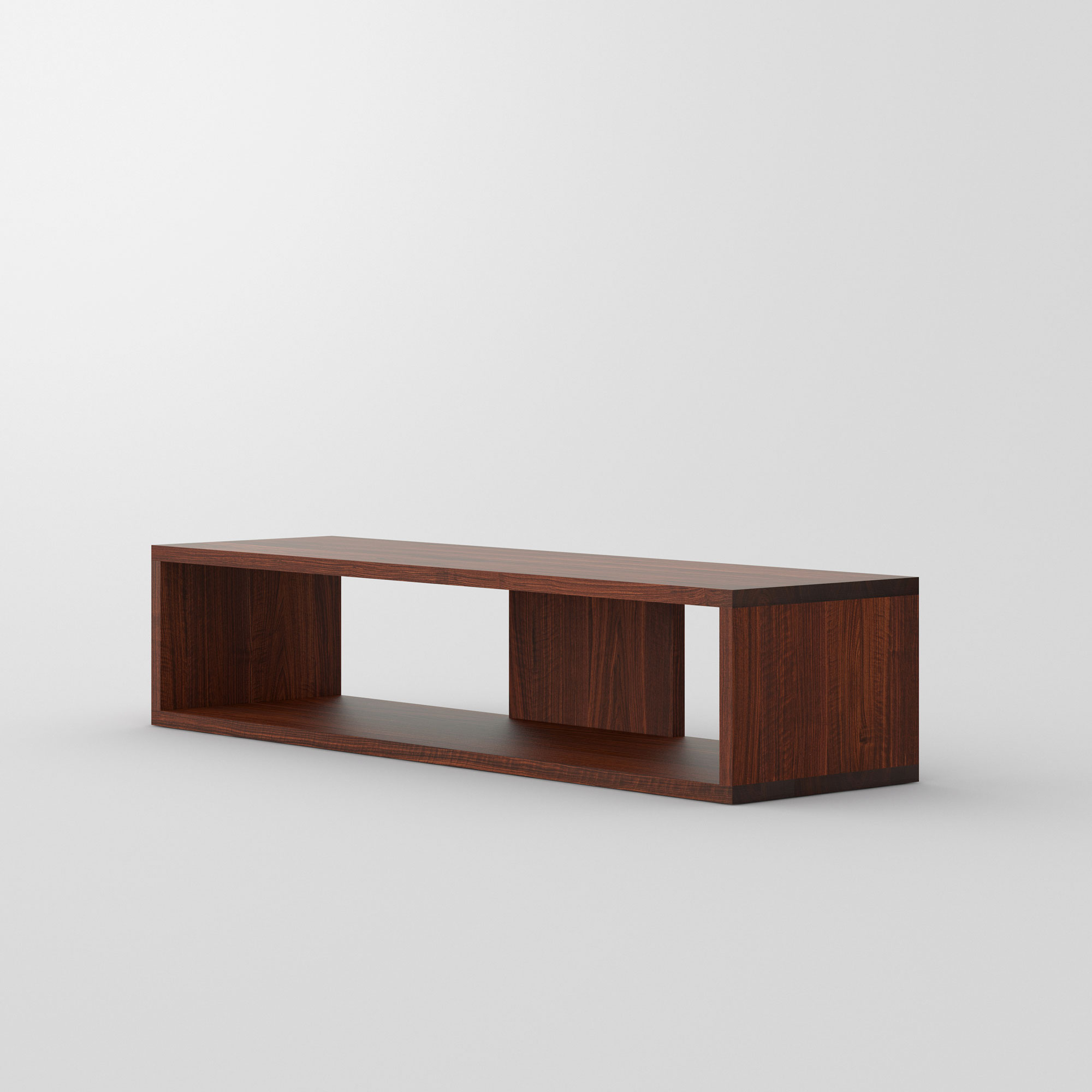 TV Shelf MENA TV cam2 custom made in solid wood by vitamin design